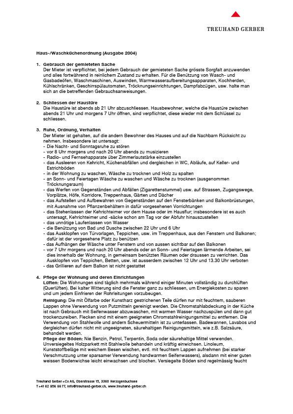 Haus-/Waschkückenordnung   Download PDF