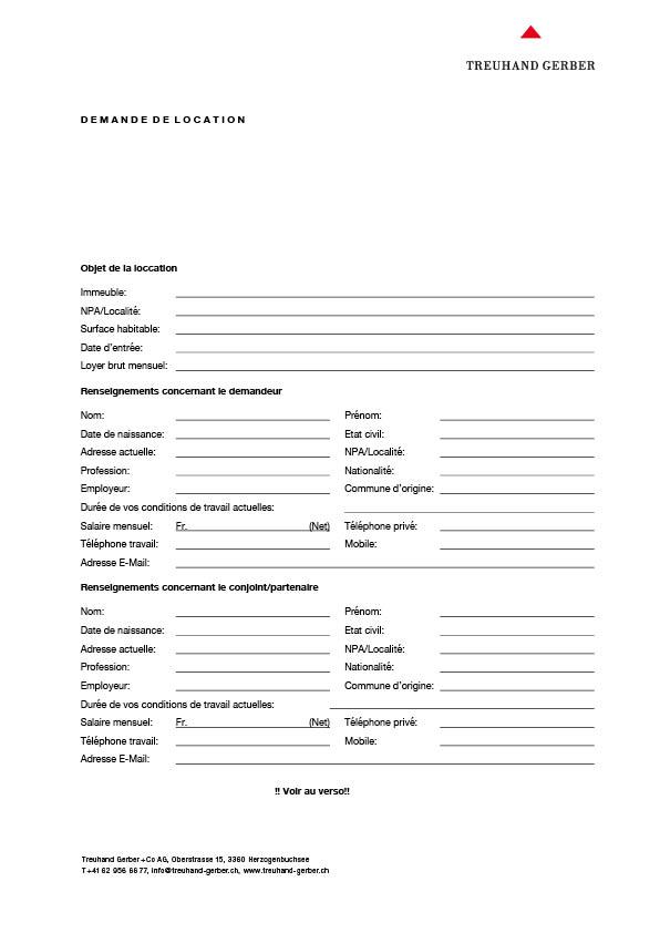 Formulaire de demande de location, français   Download PDF