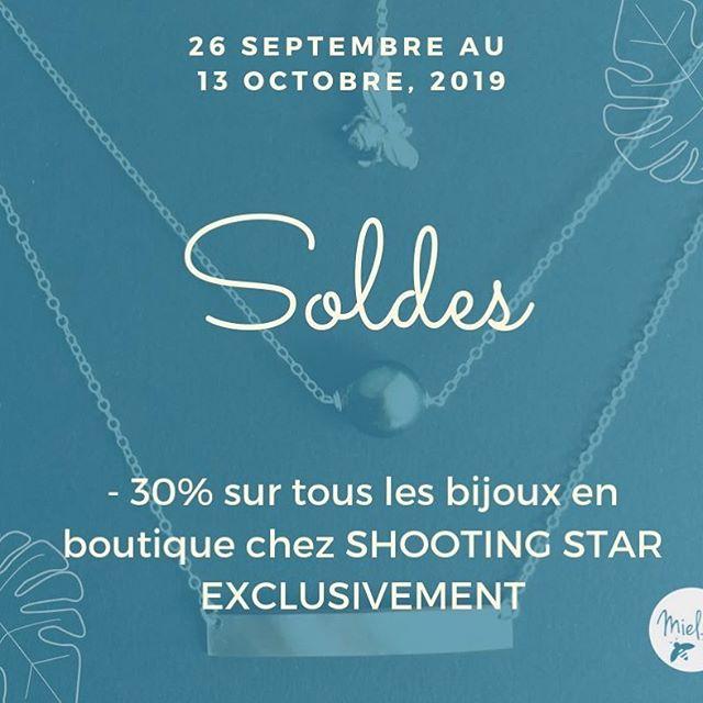 Soldes -30% en exclusivité sur toutes les collections disponibles chez @shootingstar_tahiti !#soldes #tahiti #bijoux #createurs #handmadejewelry
