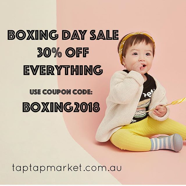 Boxing Day starts Now! Jump to www.taptapmarket.com.au