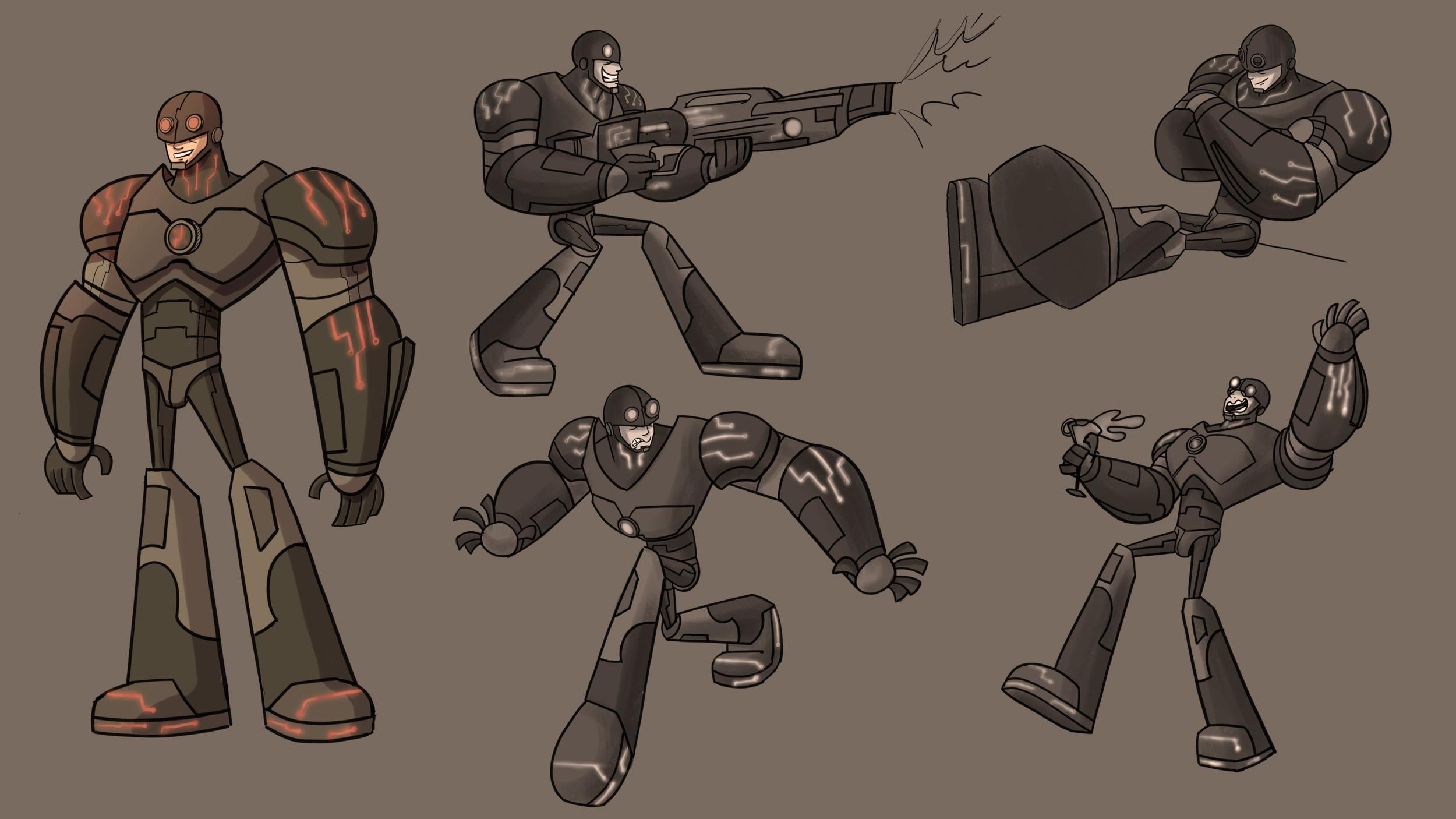 Cyborg (tin man): Final design and poses