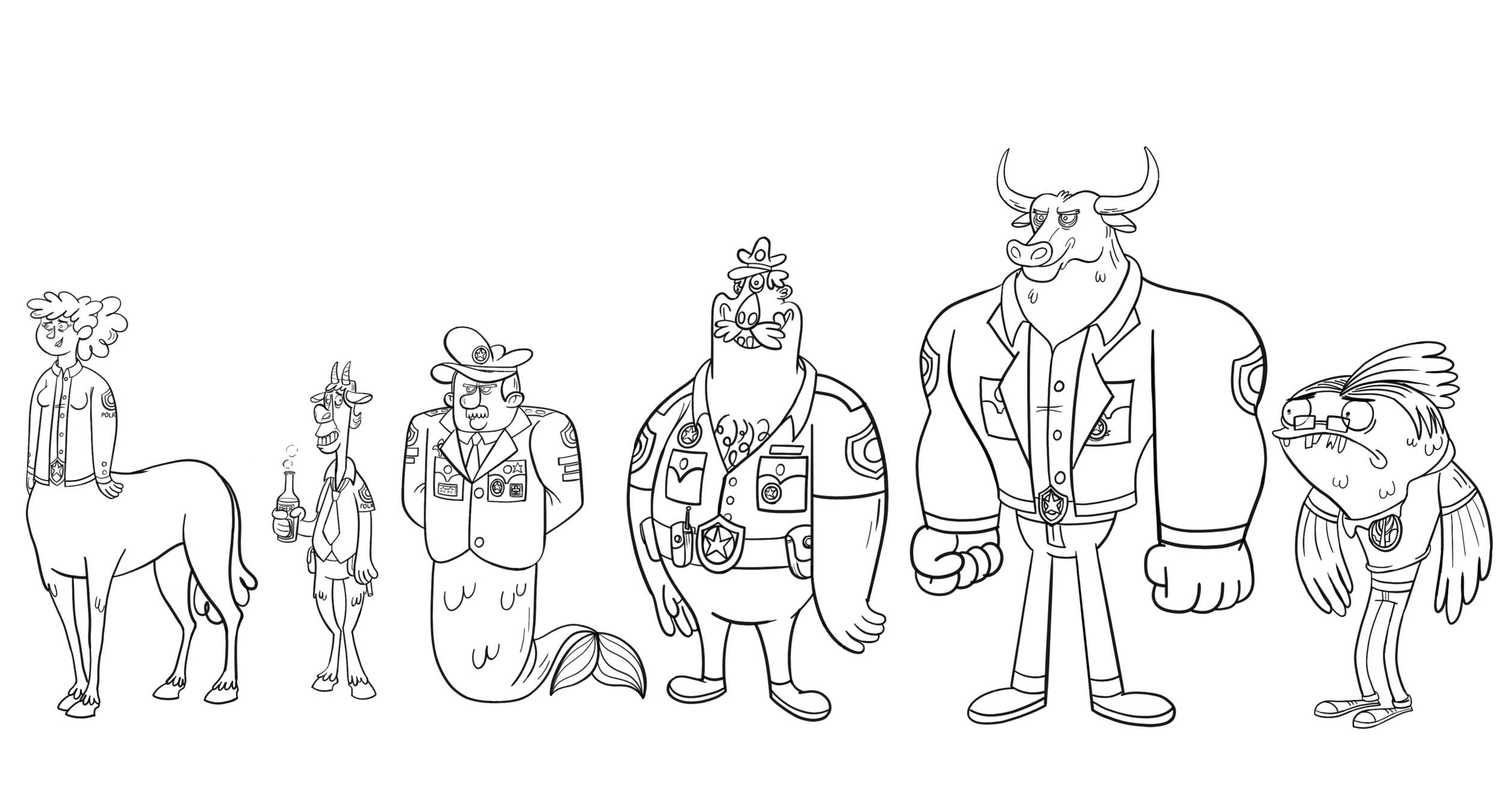 Secondary characters: lineup
