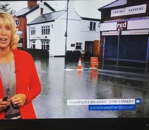 Did you see us on the news last night, Thank you to the fire service for reducing the water! No more rain please 🌧👎🏻💧