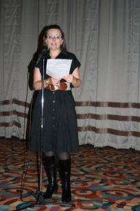 Kim making her first ever event speech