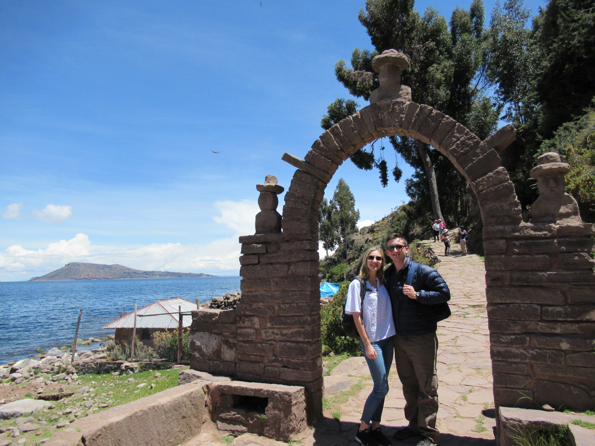 One of the many picturesque arches of Taquile.