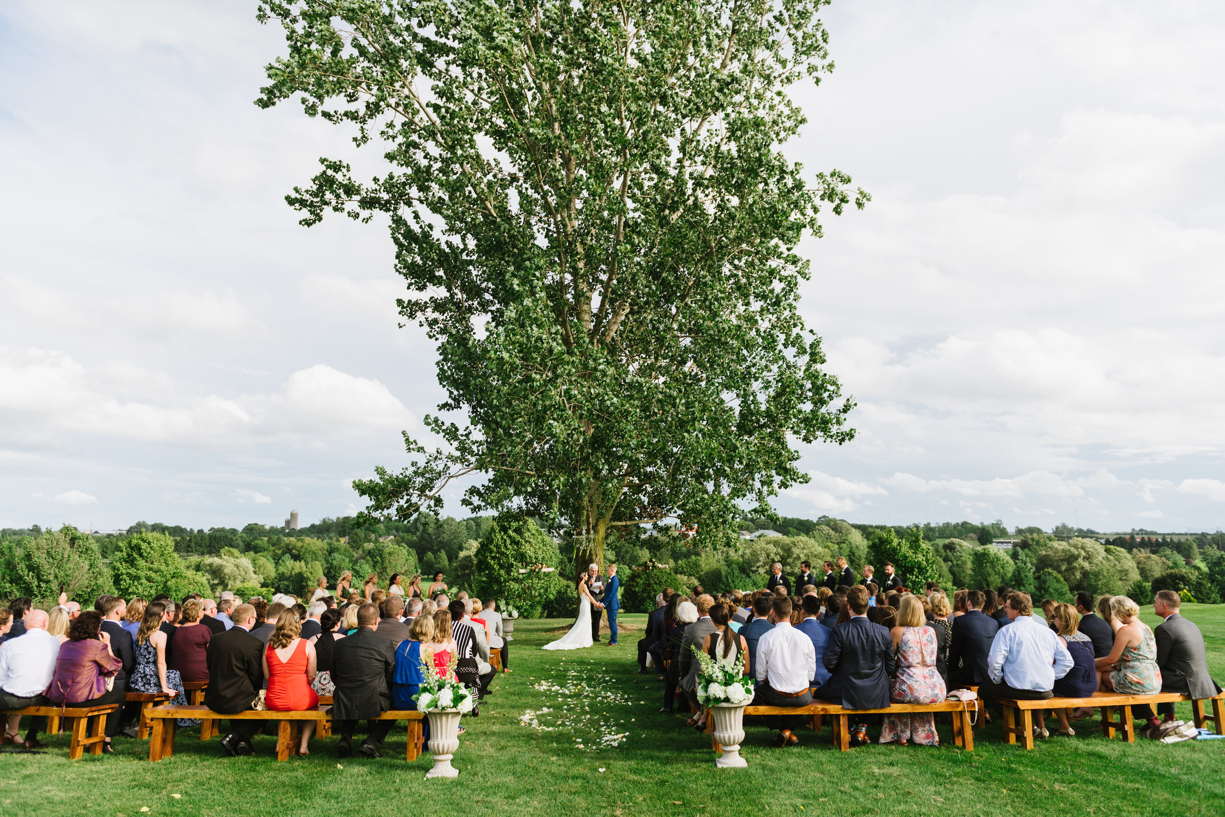 wedding-ceremony-outdoor-wood-benches