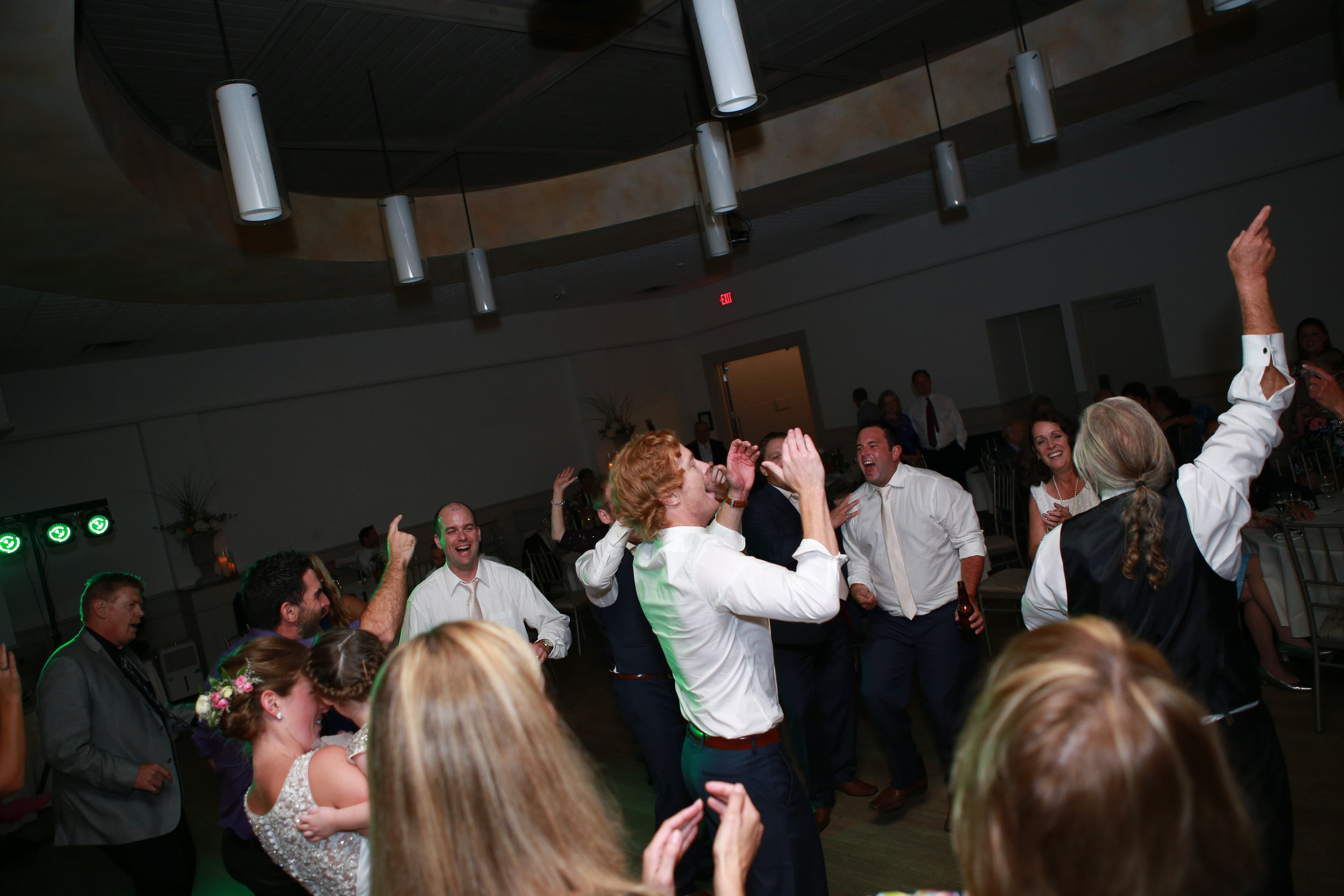Dance-offs are always a fun idea for co-ed bridal showers. Photography: Maigan Cowen.