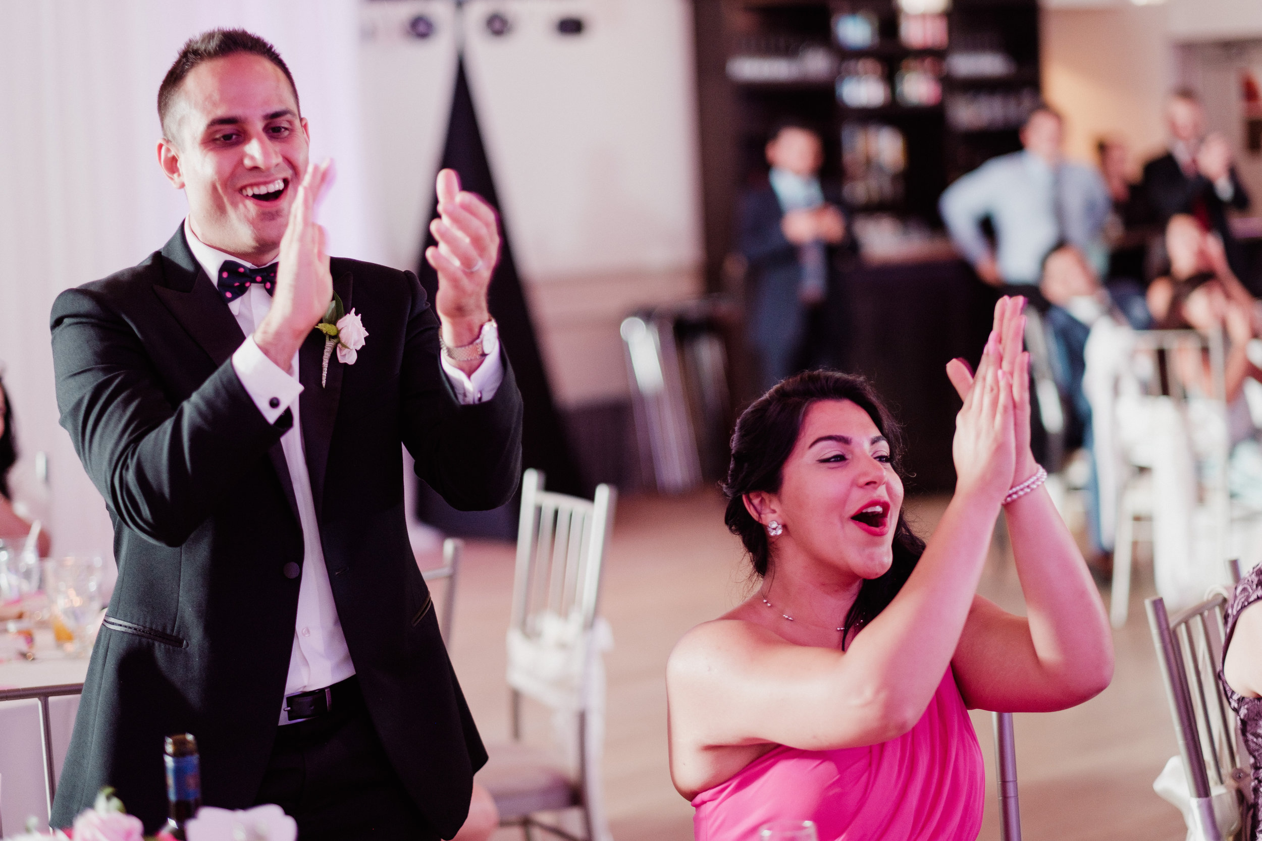 Your guests' reactions to speeches can capture great moments that you might not get to see from the Head Table. Photography:    Bassem   .