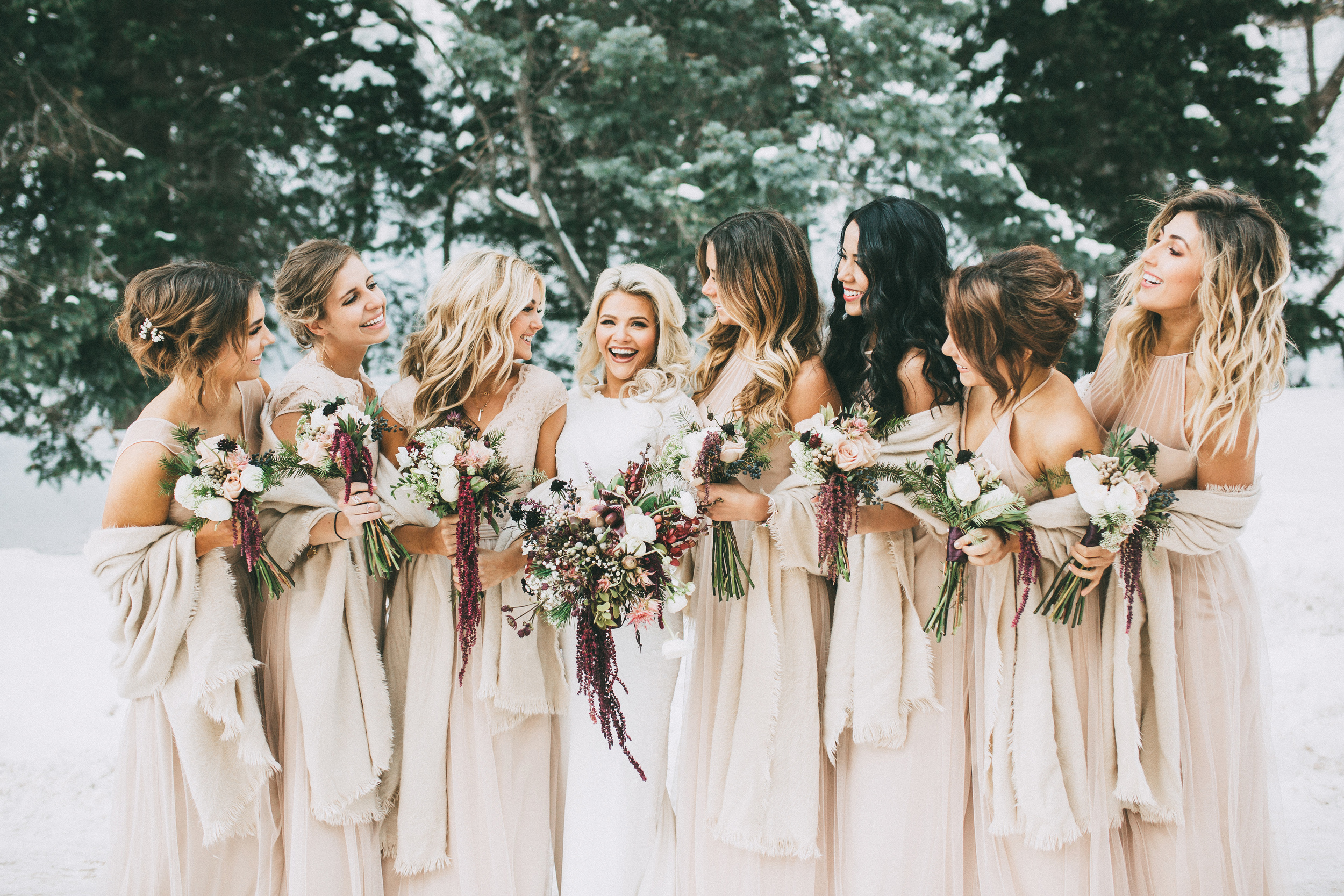 Choosing a winter wedding date means that all of your closest friends will be able to attend, since schedules are often less hectic than they are in the warmer months. Photo Source:  India Earl Photography .