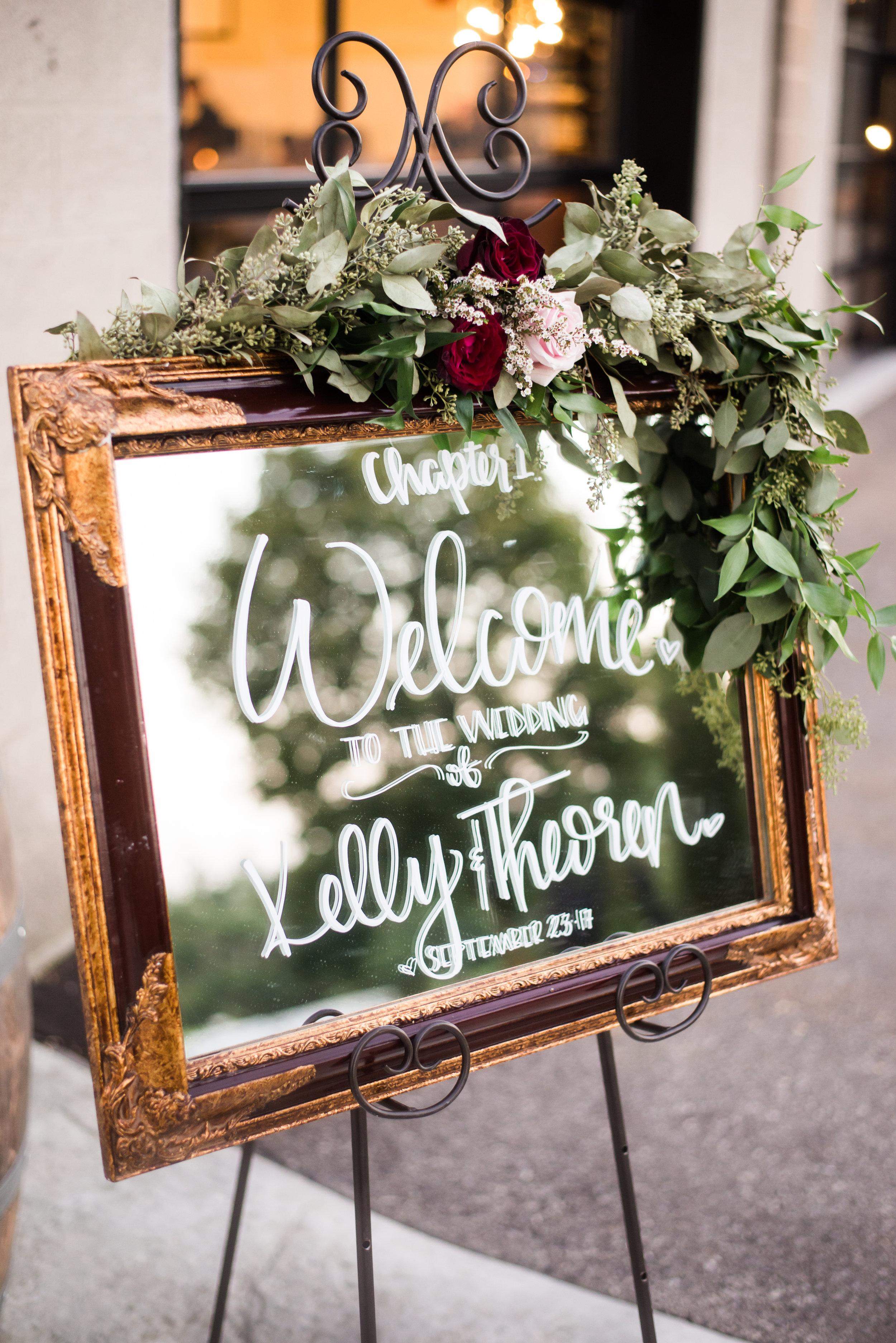 wedding_welcome_sign_custom_greenery