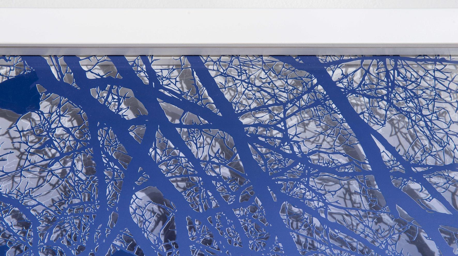 Treescape (Blue), (detail)