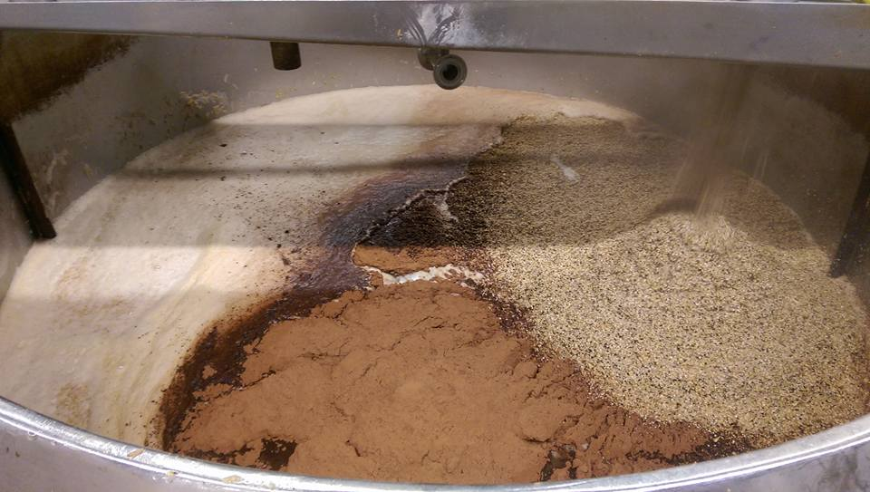 Cocoa powder in mash