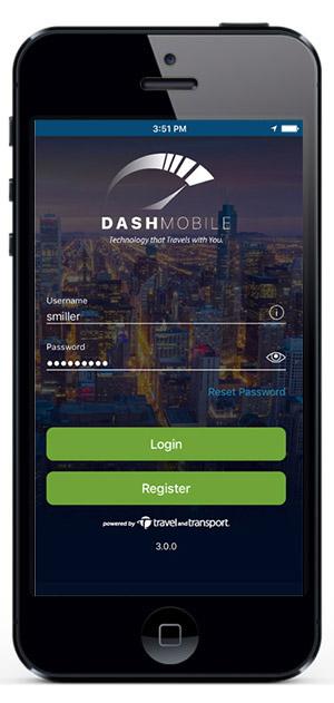 Connexion à l'appli Dash Mobile -