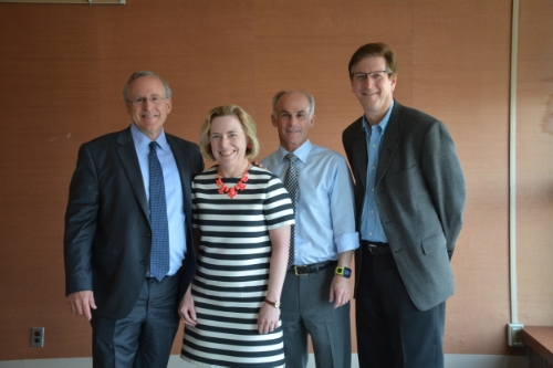 From left to right: Robert Stern, Ph.D, Laura Balcer, M.D., Charles Bernick, M.D., M.P.H., Charles Adler, M.D., Ph.D.