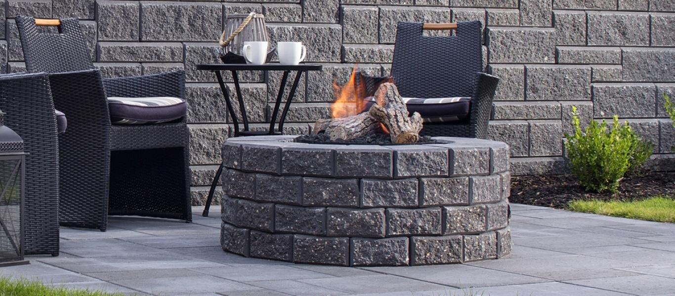 Belgard Firepit Kits & Fireplaces — Whitemud Landscape Centre