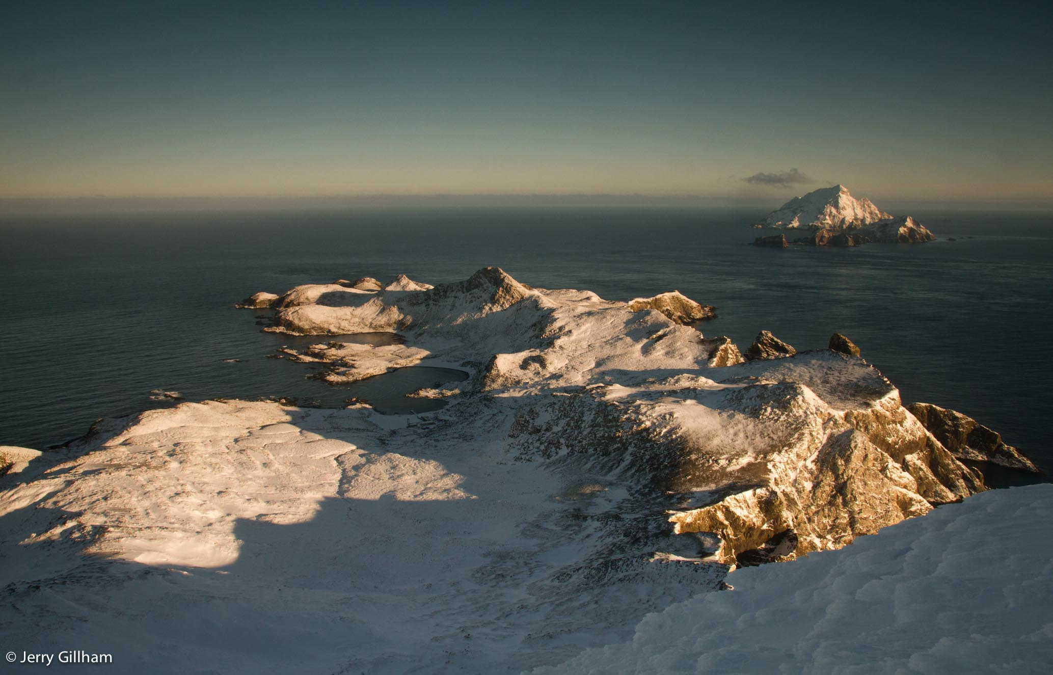 The west side of Bird Island from part way up La Roche.