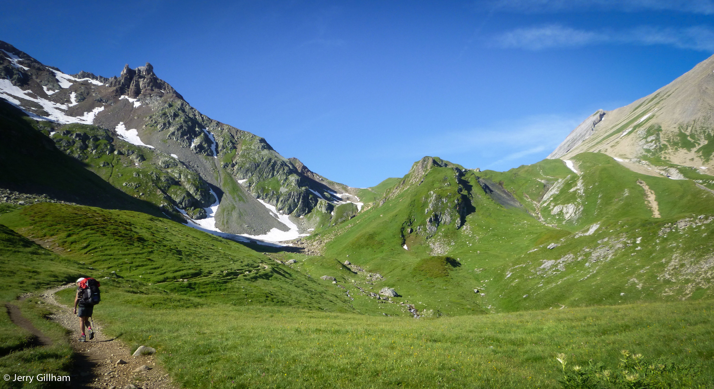 Looking up toward Col du Bonhomme.