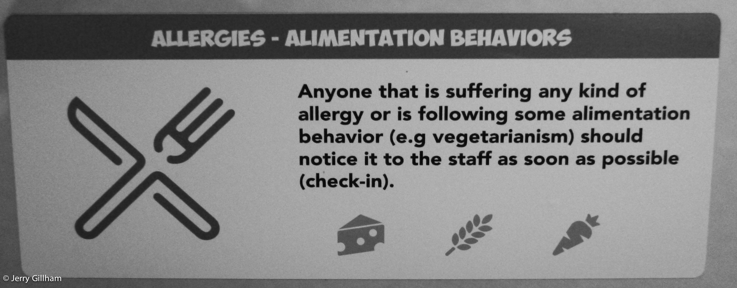 I made sure I noticed my alimentation behaviour to the staff as soon as possible.