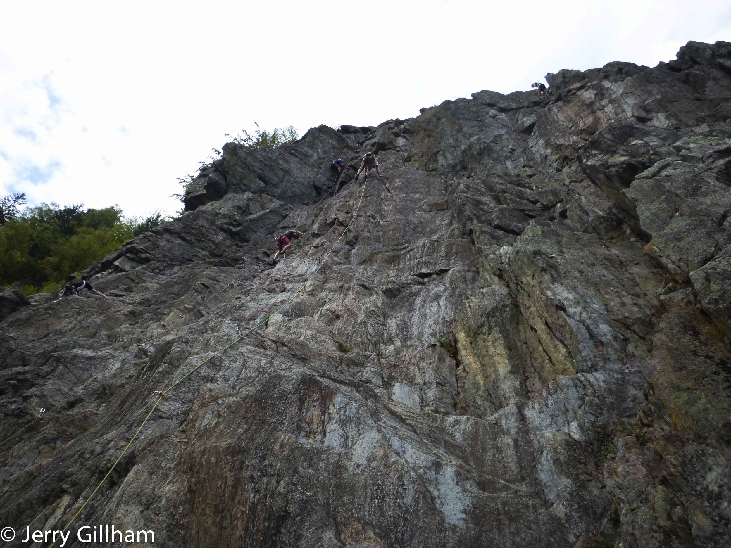 Busy times on the crag.