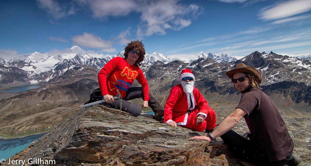 Fraser, Kieran and me on the top of Mt Duse.