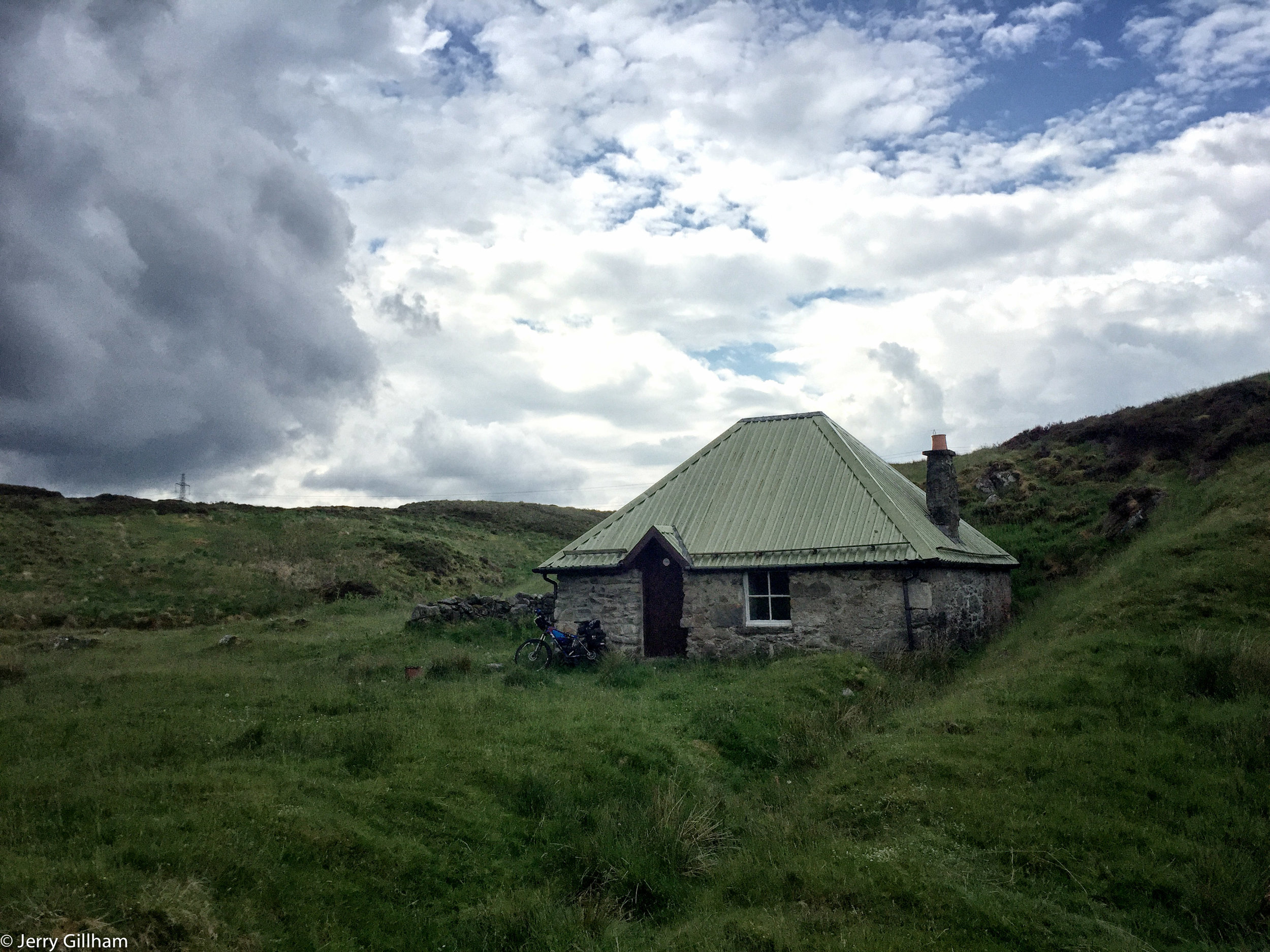 I reached Blackburn of Corrieyairack bothy at about 2:00 and within half an hour it started raining hard again. A couple of walkers dropped in to shelter until a break but other than that I didn't see anyone, hiding inside as the rain continued on and off until well into the night.