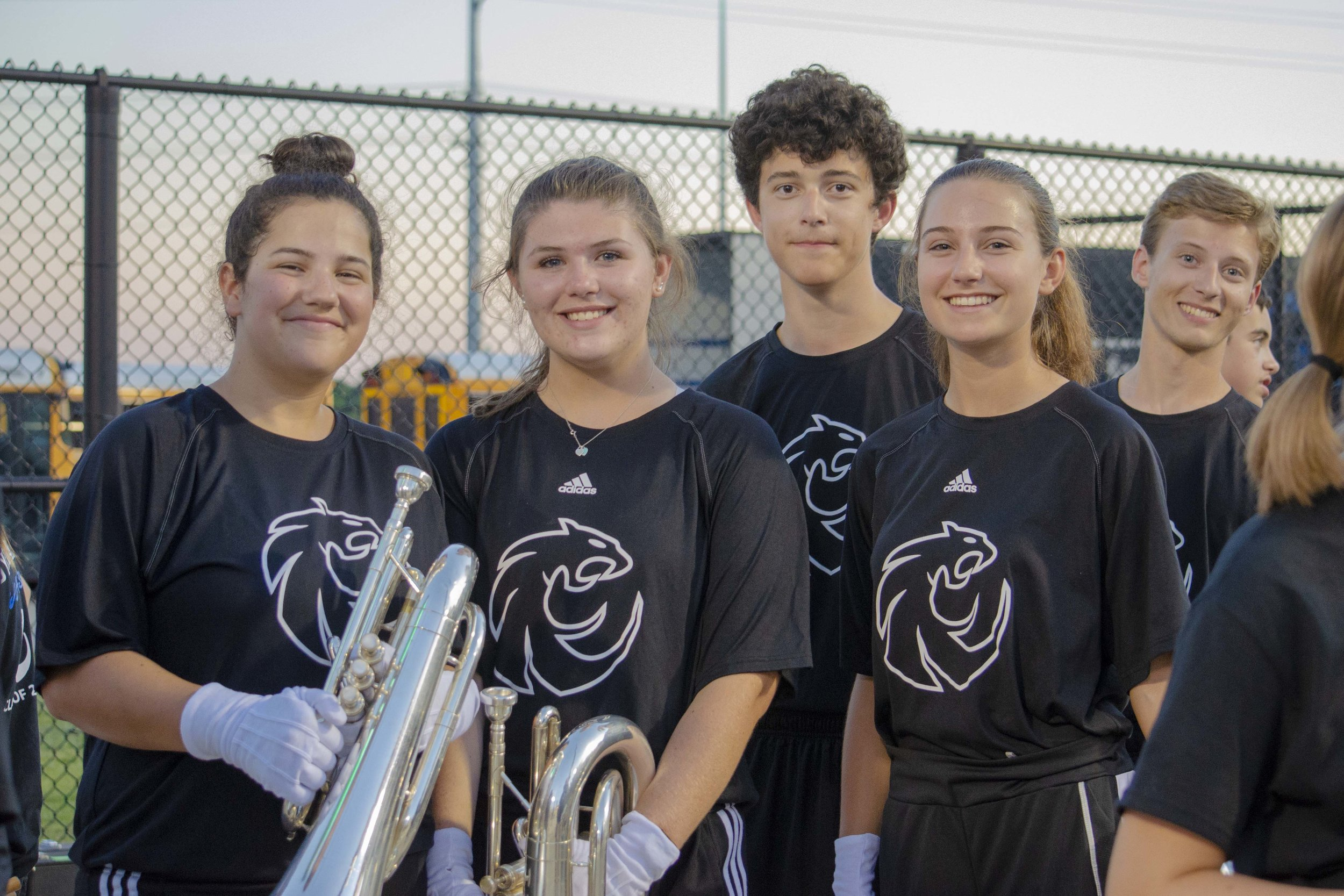 SUMMER UNIFORM SHIRT - The summer uniform shirt is a required item for all band members.  Worn throughout the year as a summer marching uniform, a layer beneath the formal uniforms and also for in-school pep rallies and events.$20.00 ea.