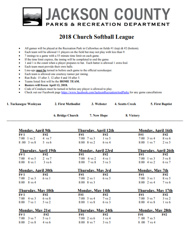 2018 Church Softball Game Schedule.png