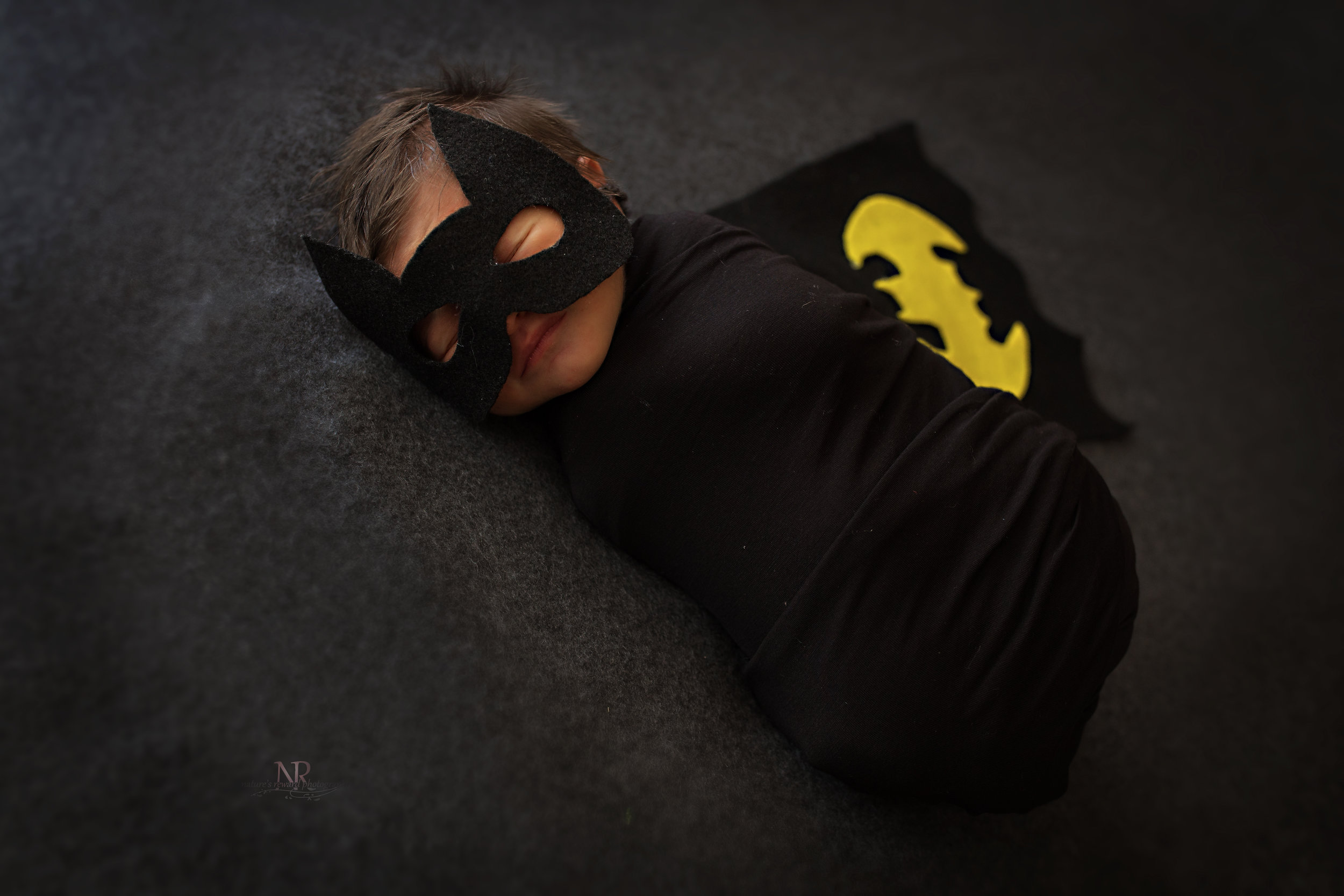 Newborn Batman Close Up