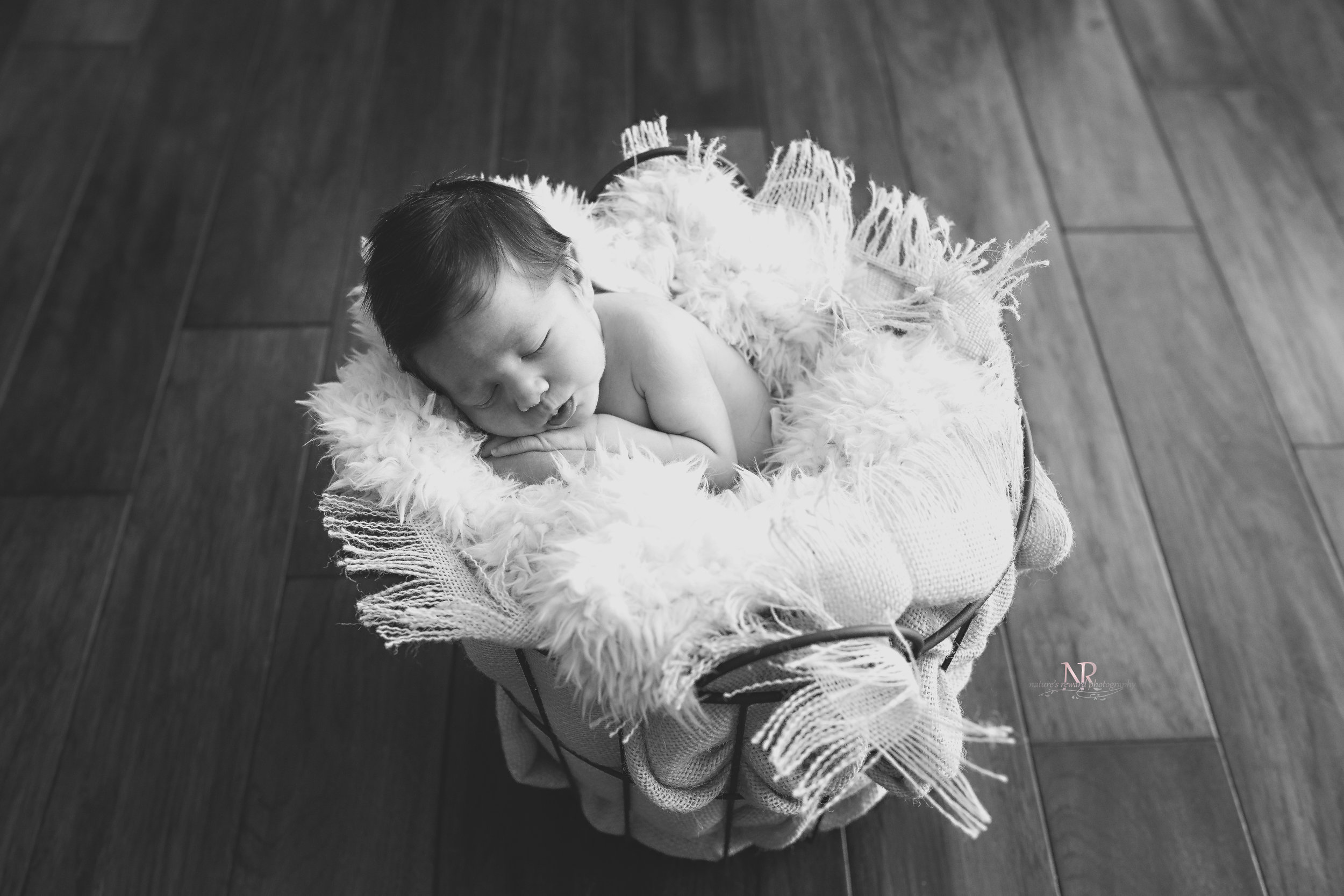 Because I have no idea how they will choose between color or black and white in this gorgeous newborn image.