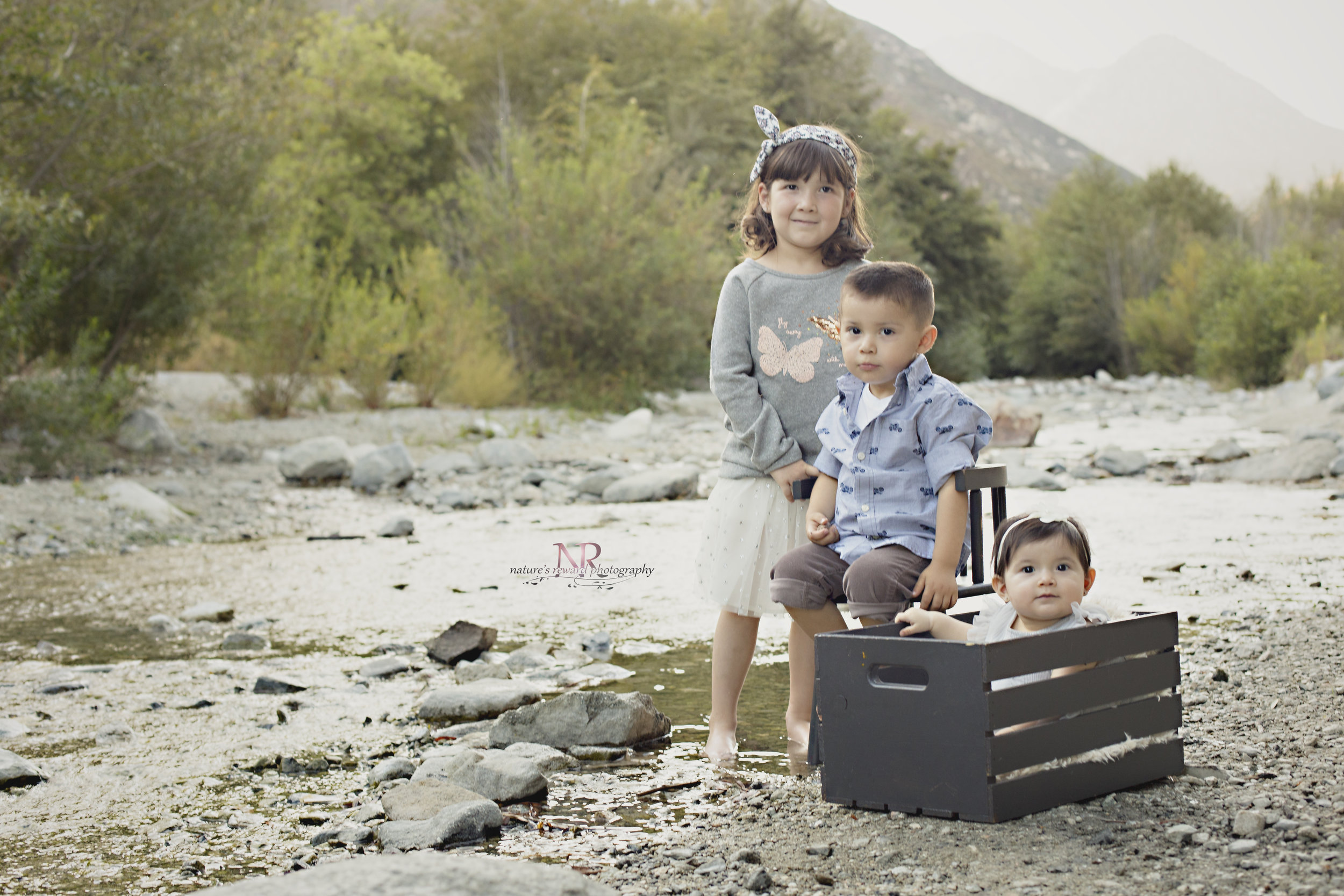 A sibling shot in the stream.