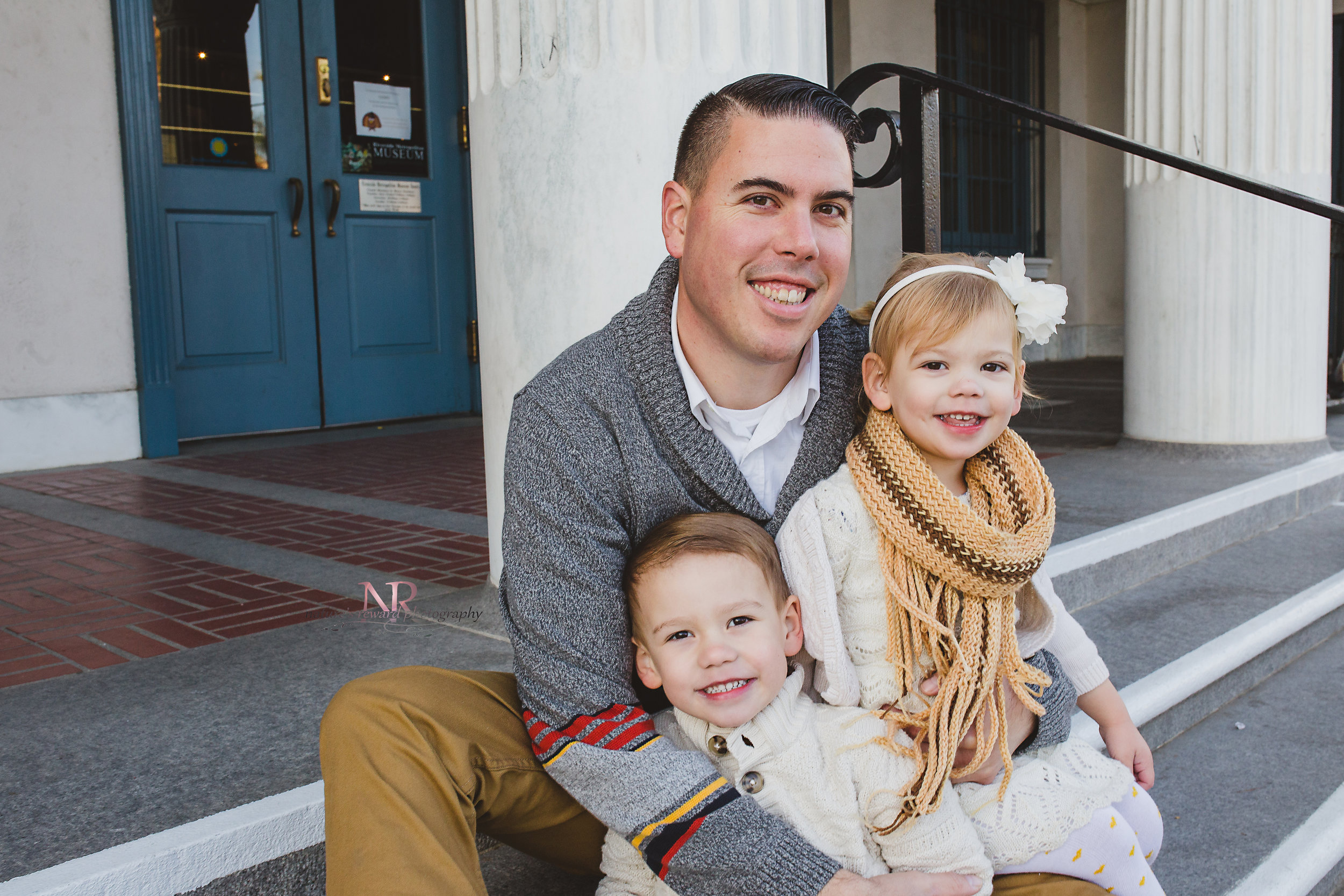 Dad With Kids Image