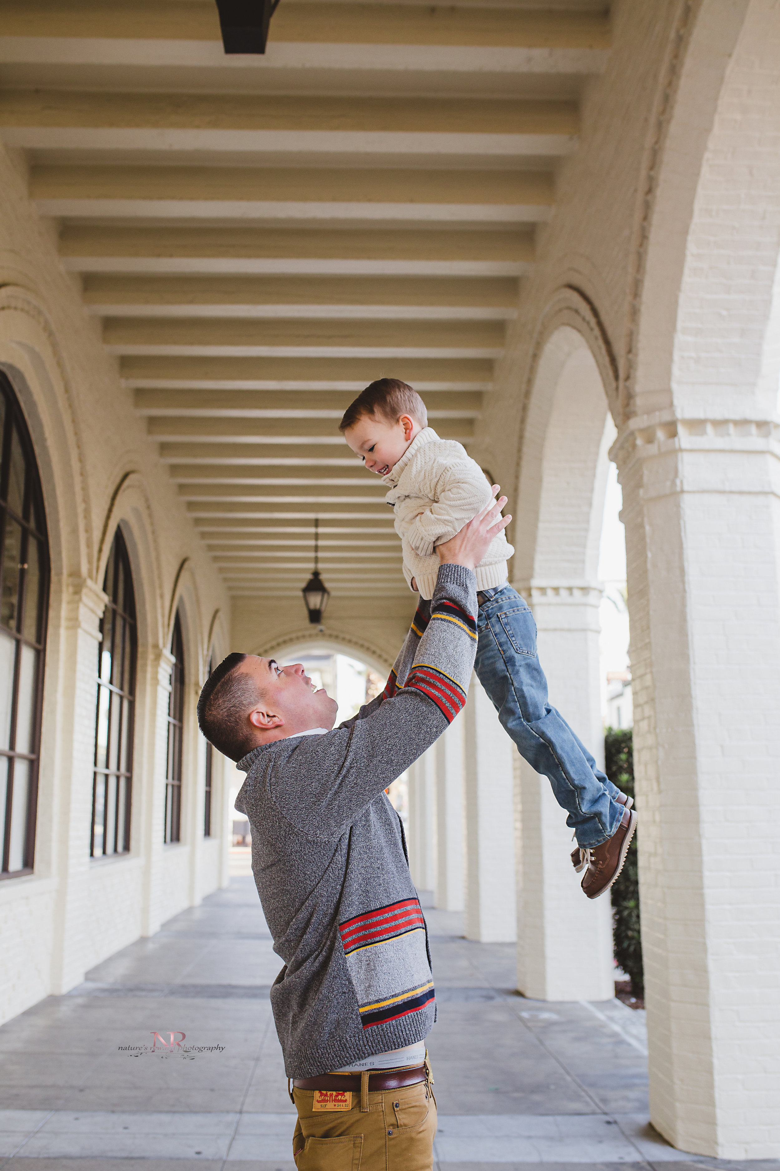 Dad and Son playing