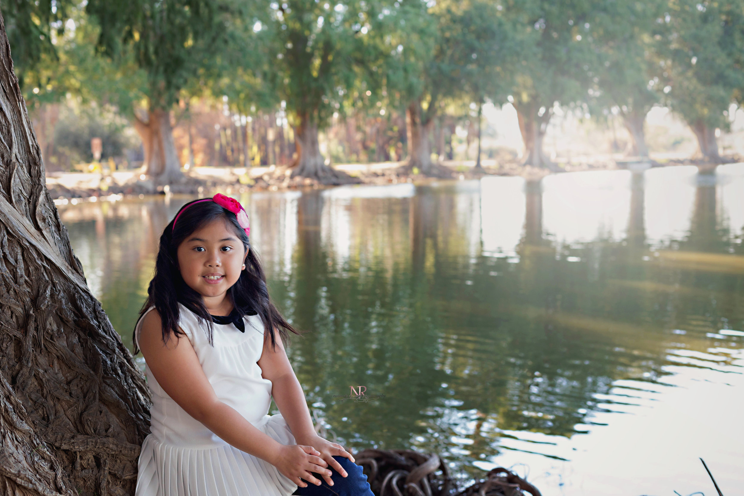 Sweet Daughter next to the water