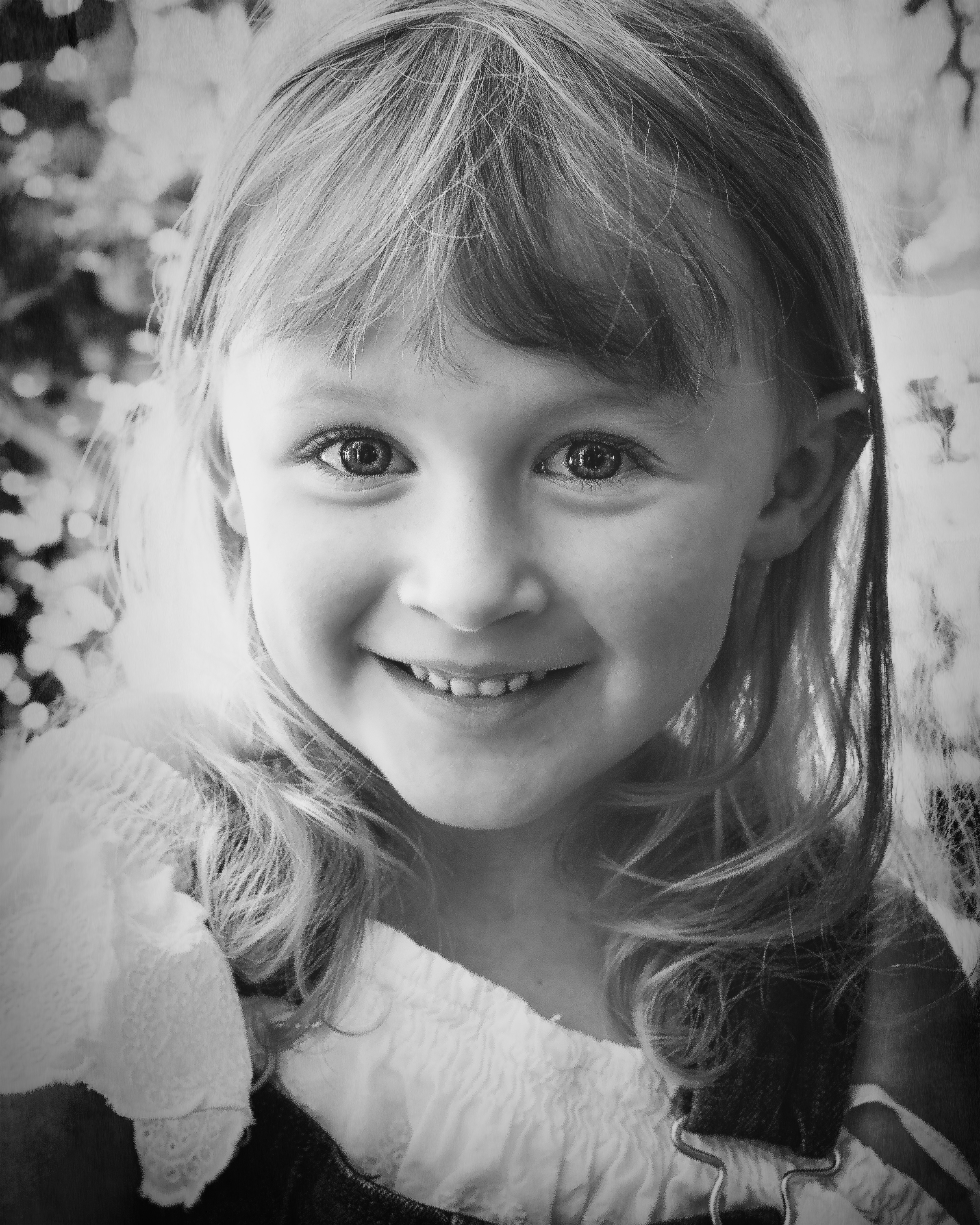Do you see the sparkles? Lovely Portrait of this darling happy little one. Portrait by Nature's Reward Photography- a southern California photographer