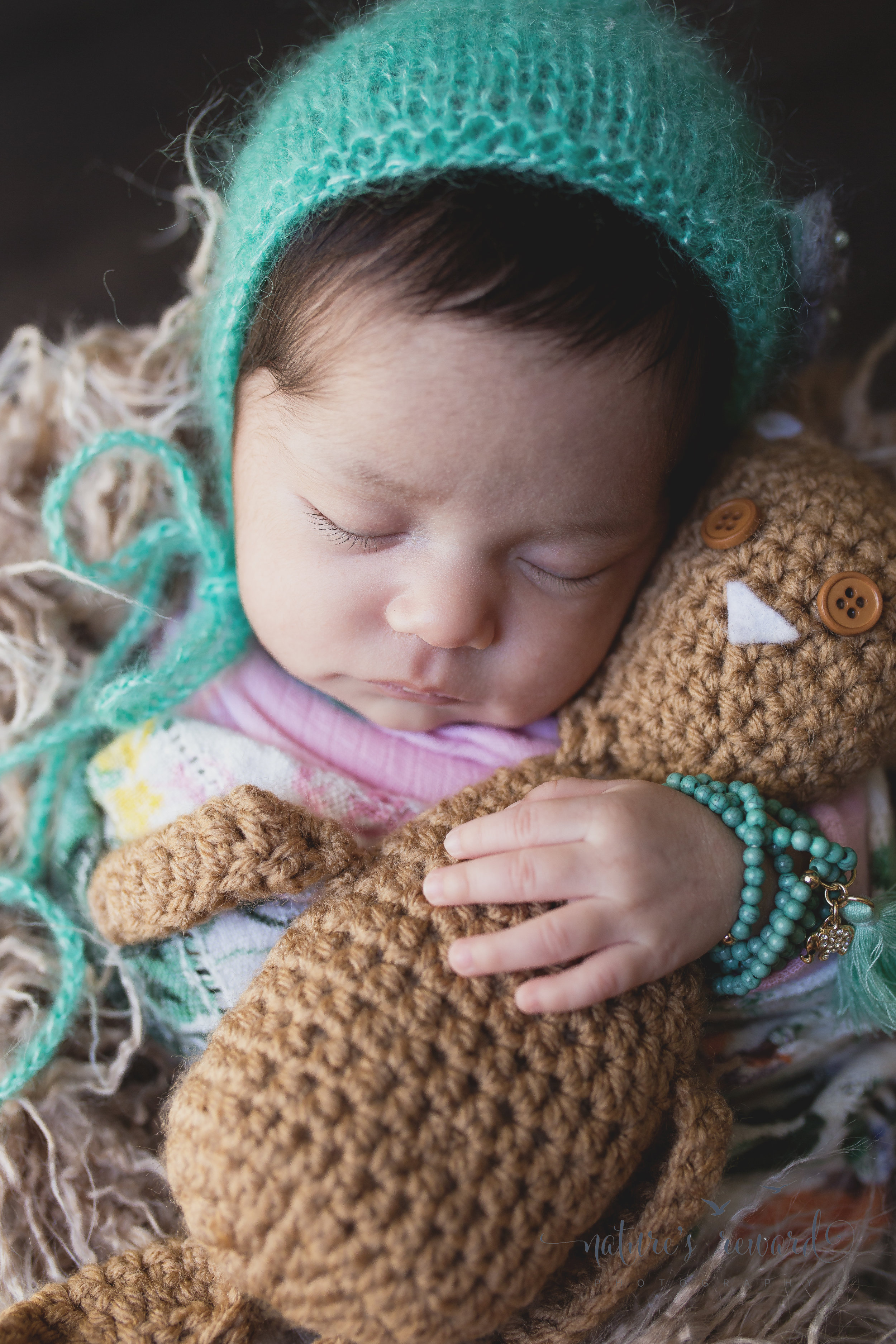 The teddy and her bonnet. And then there was magic. Image by Nature's Reward Photography