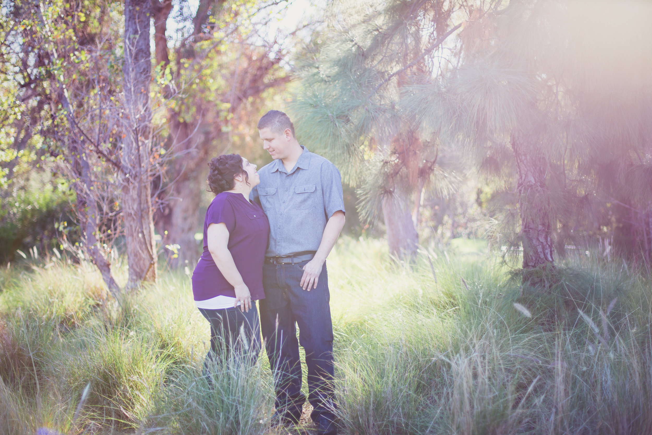 The lens flare on this is stunning, but the look of love makes me smile!
