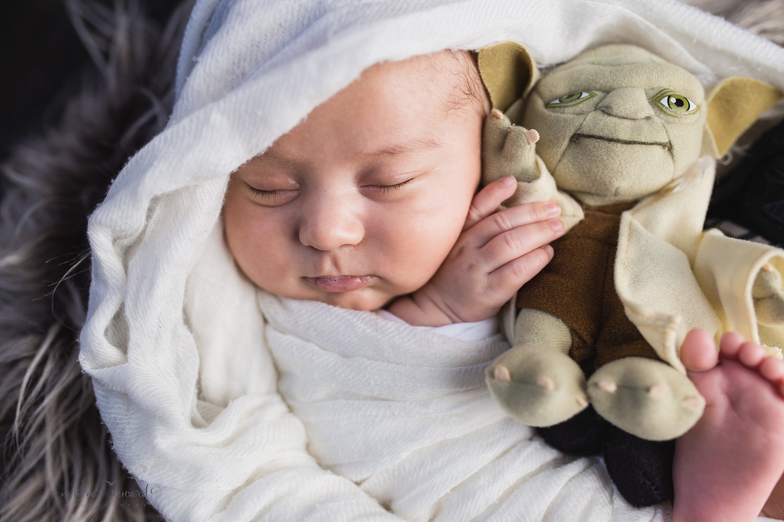 His close up portrait, with his dearest friend, Master Yoda.