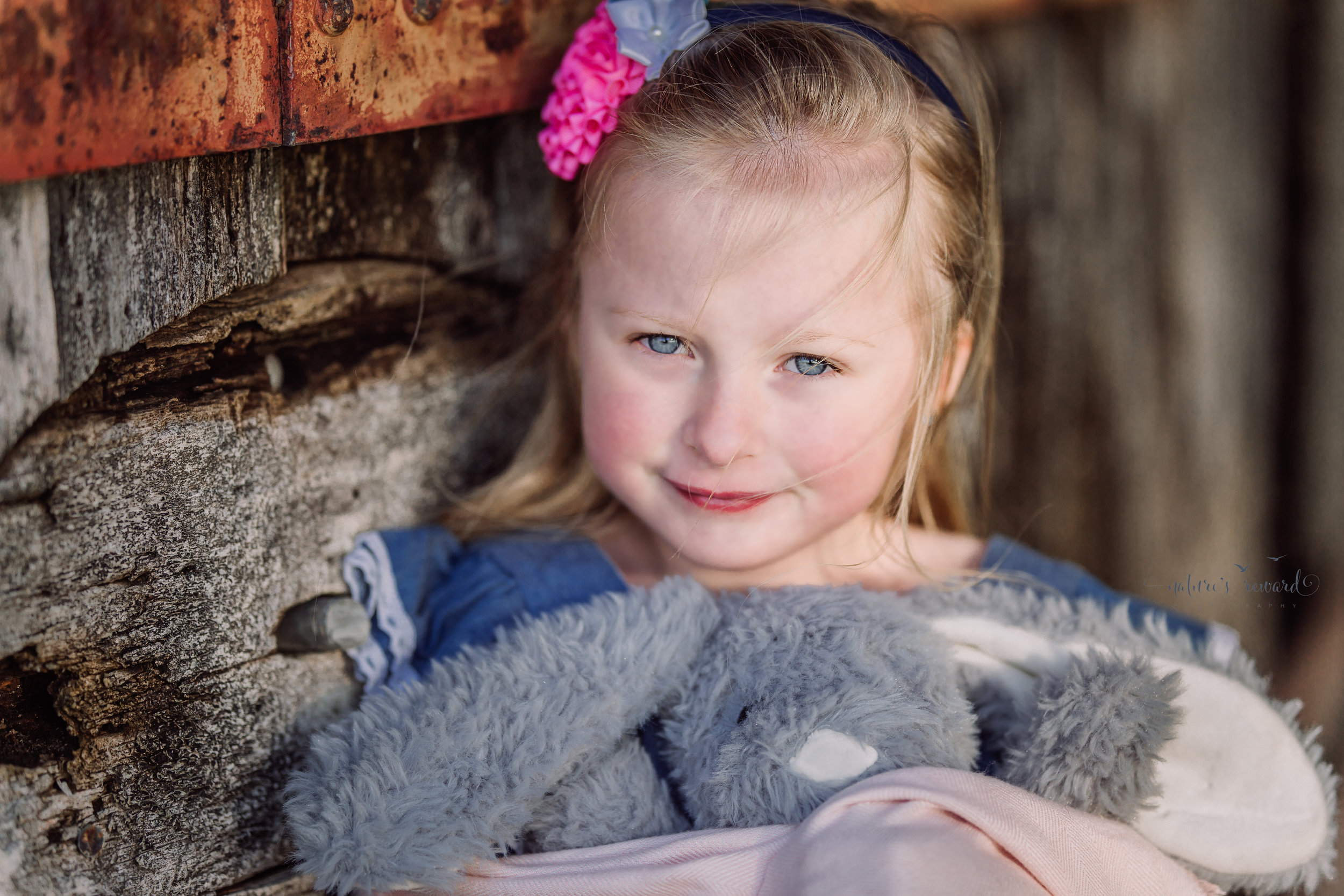 Mom fell in love with the way her baby girl's eyes sparkled in the sunshine in this close up by Nature's Reward Photography, a Southern California Photographer