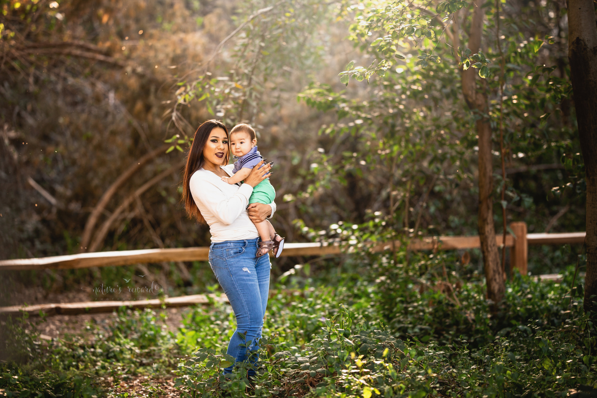 Mommy and son in the park in this lovely portrait by Nature's Reward Photography