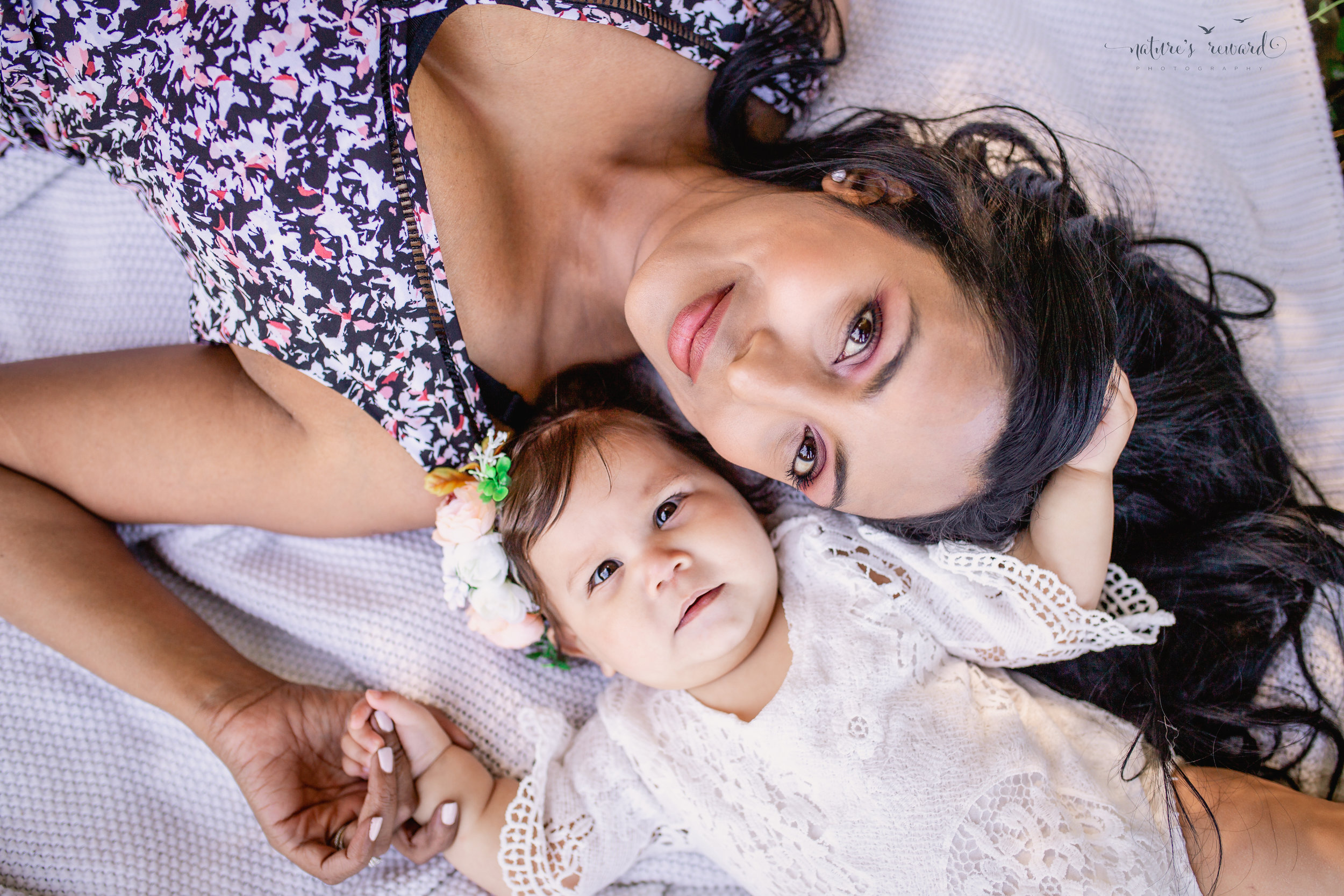 Mom and daughter portrait by Nature's Reward Photography