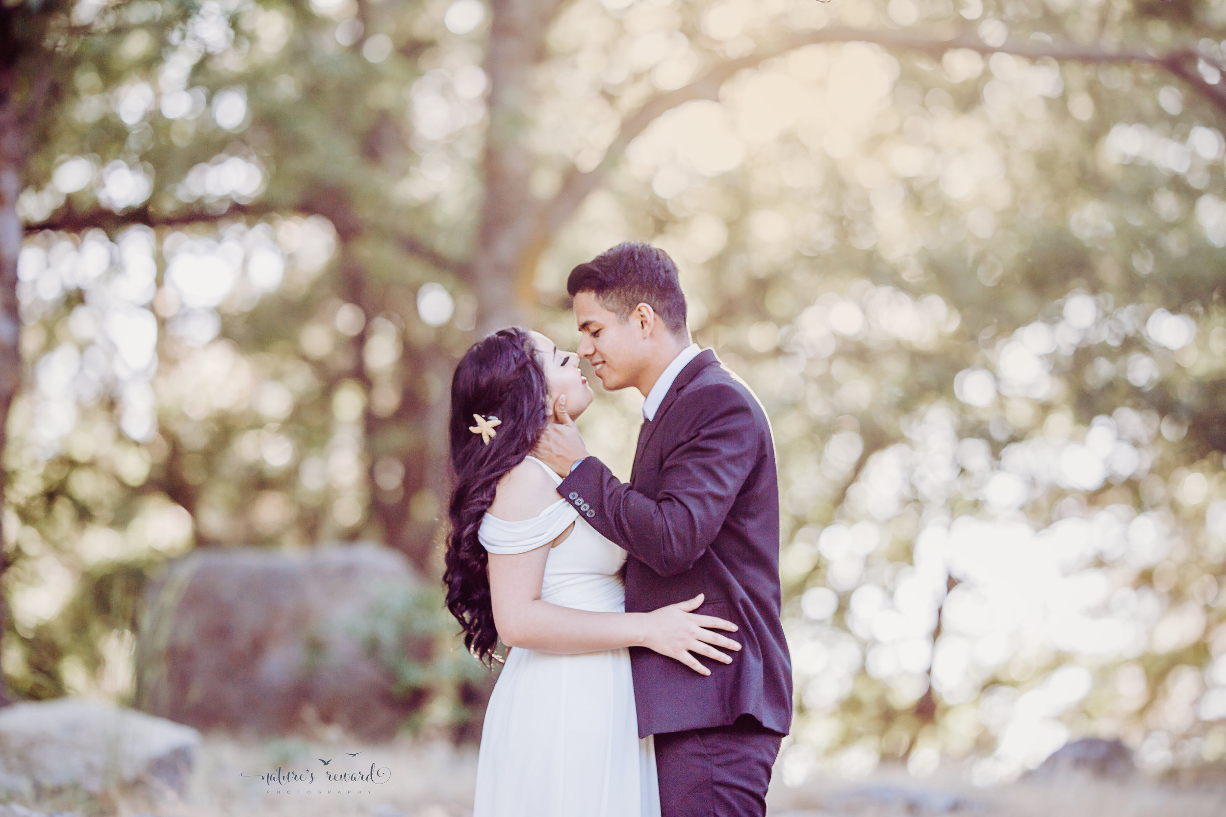 And just before they kiss, a bride and groom portrait By Nature's Reward Photography