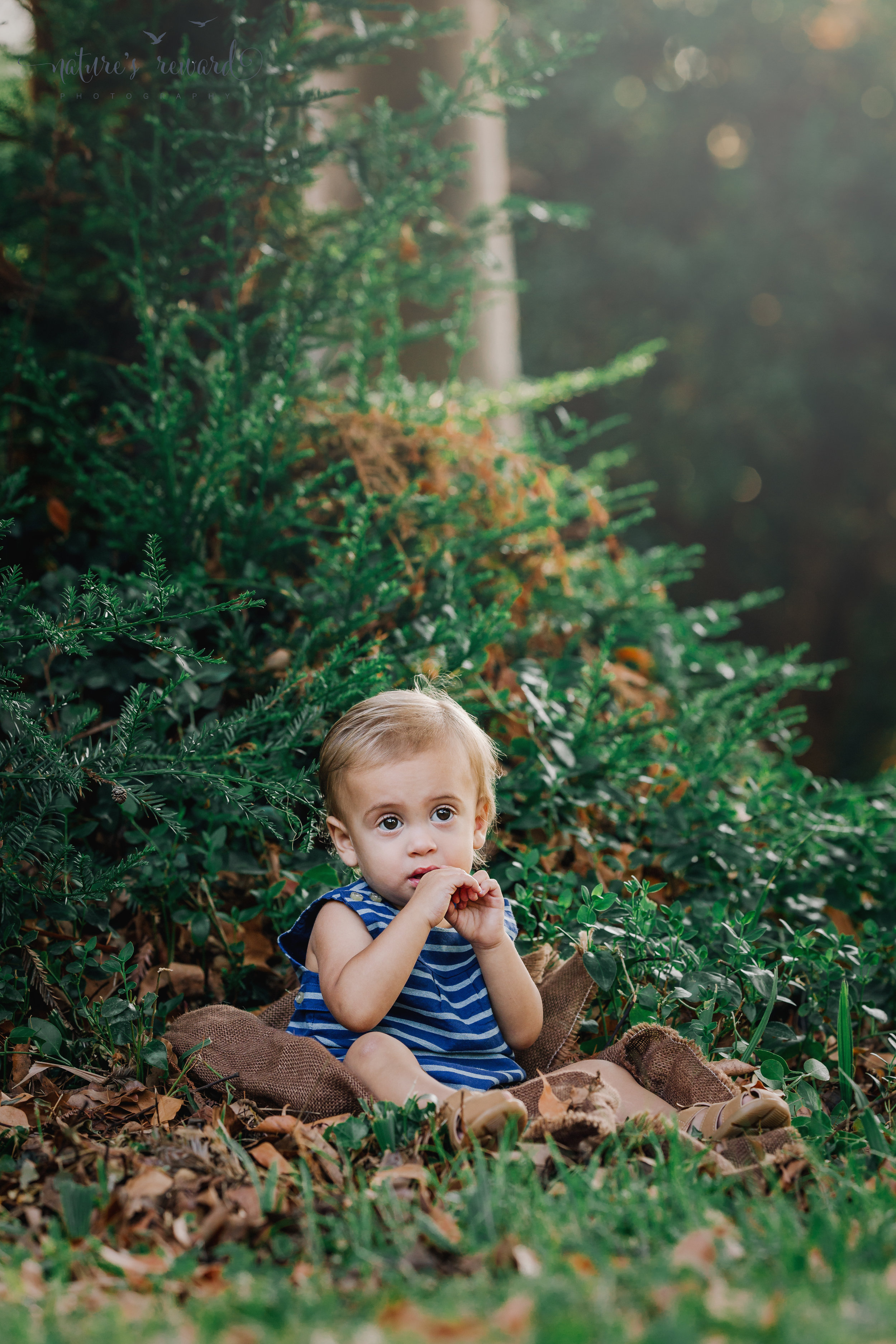 Gorgeous Baby this vintage inspired portrait by Nature's Reward Photography