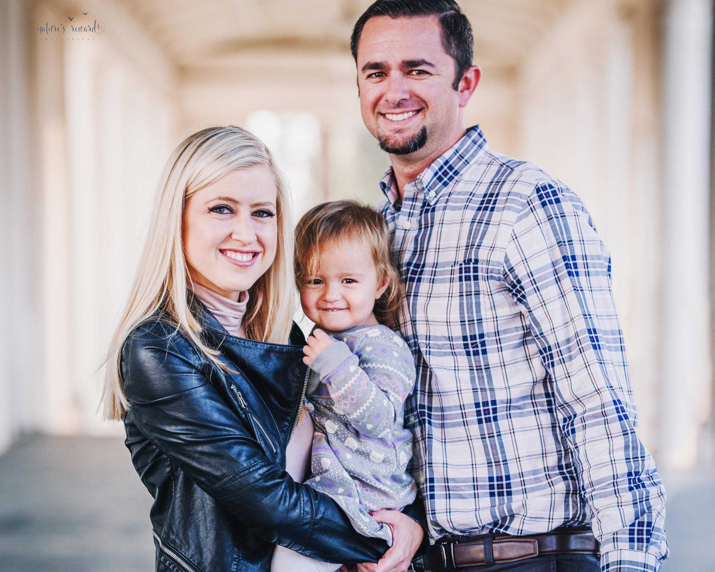 Gorgeous downtown family portrait by Nature's Reward Photography