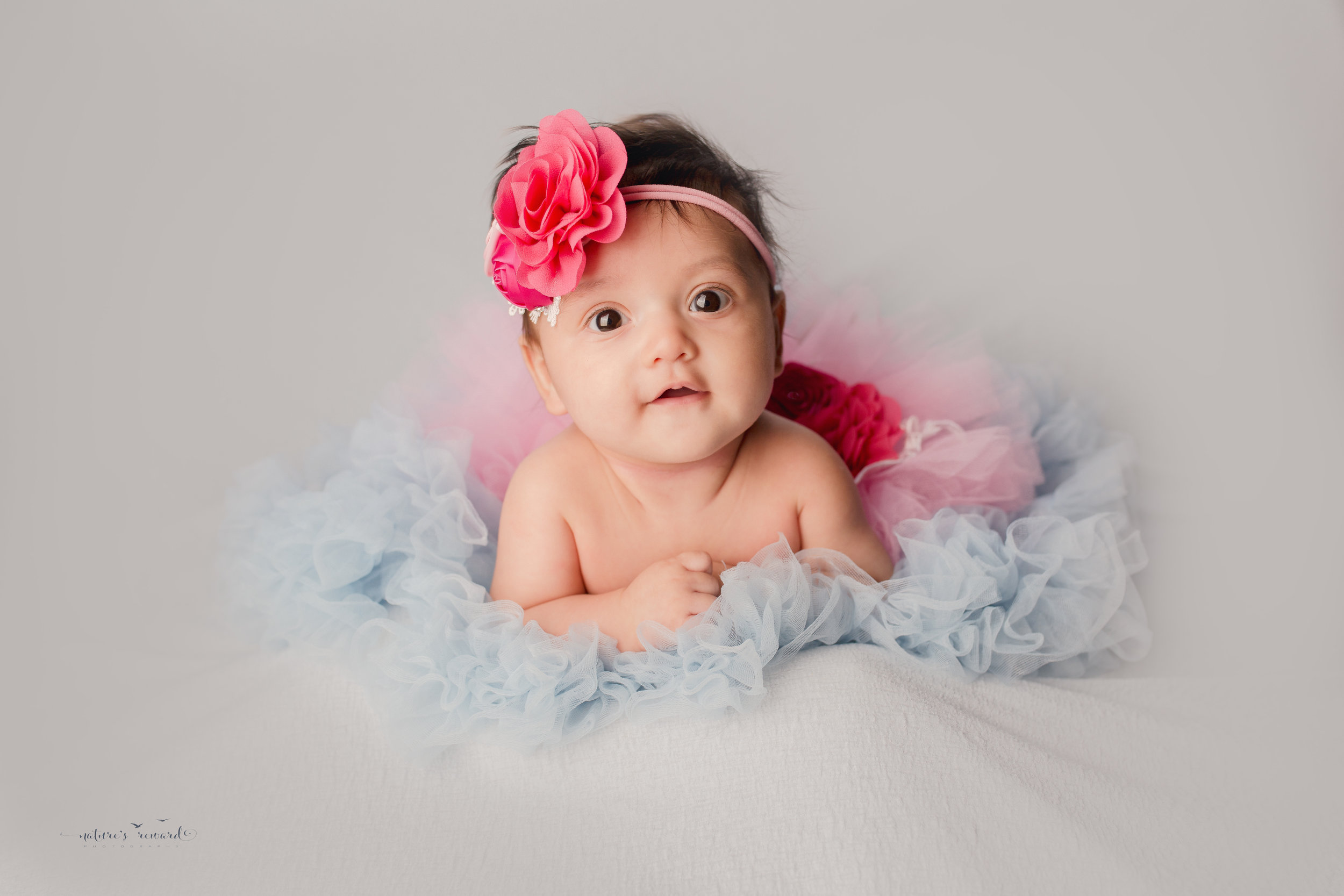 10 week old baby girl in her tutu- A Portrait By Nature's Reward Photography