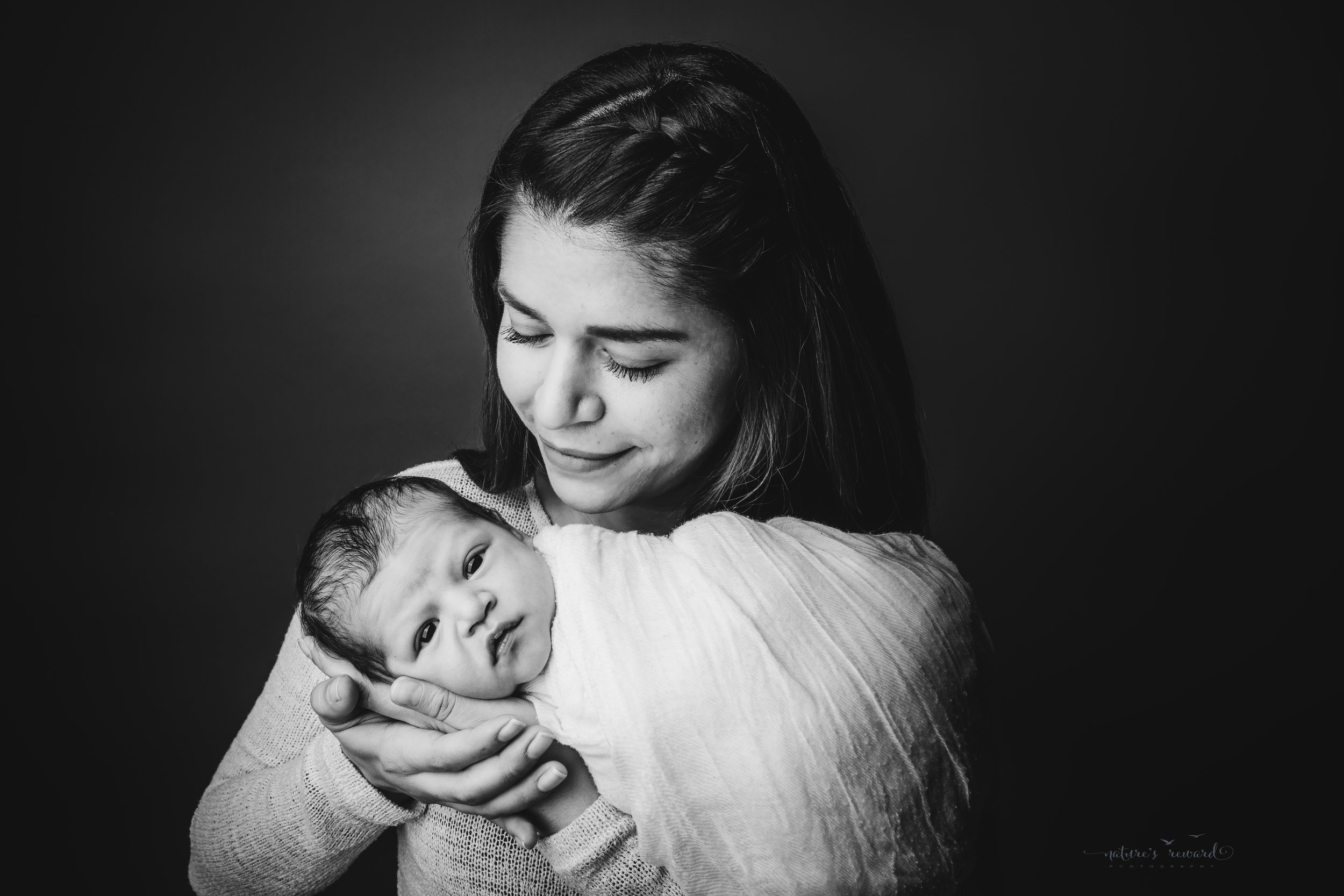 Newborn baby boy with his mommy by san Bernardino's maternity, newborn and family photography, Nature's Reward Photography
