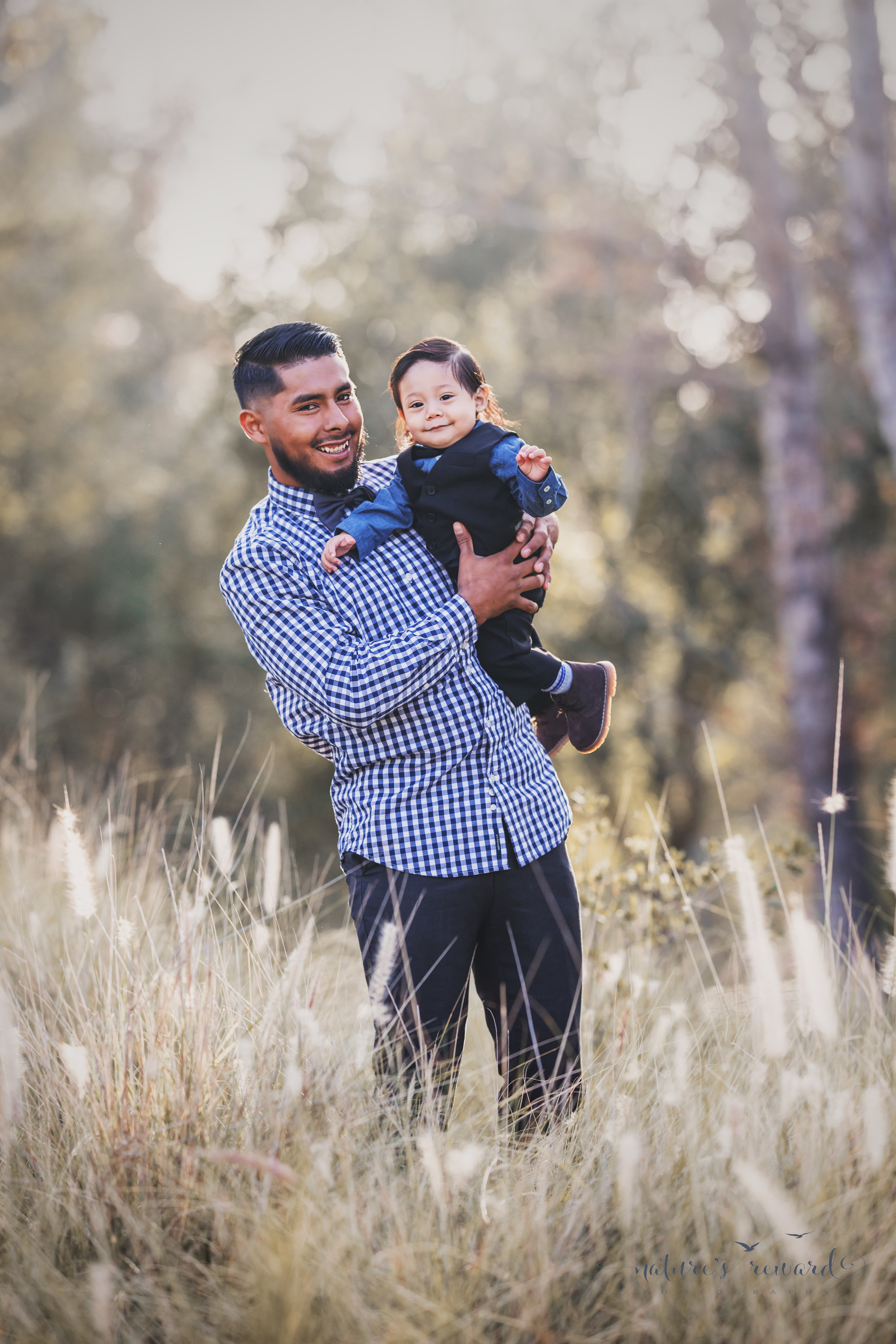 Father and son portrait by nature's reward photography