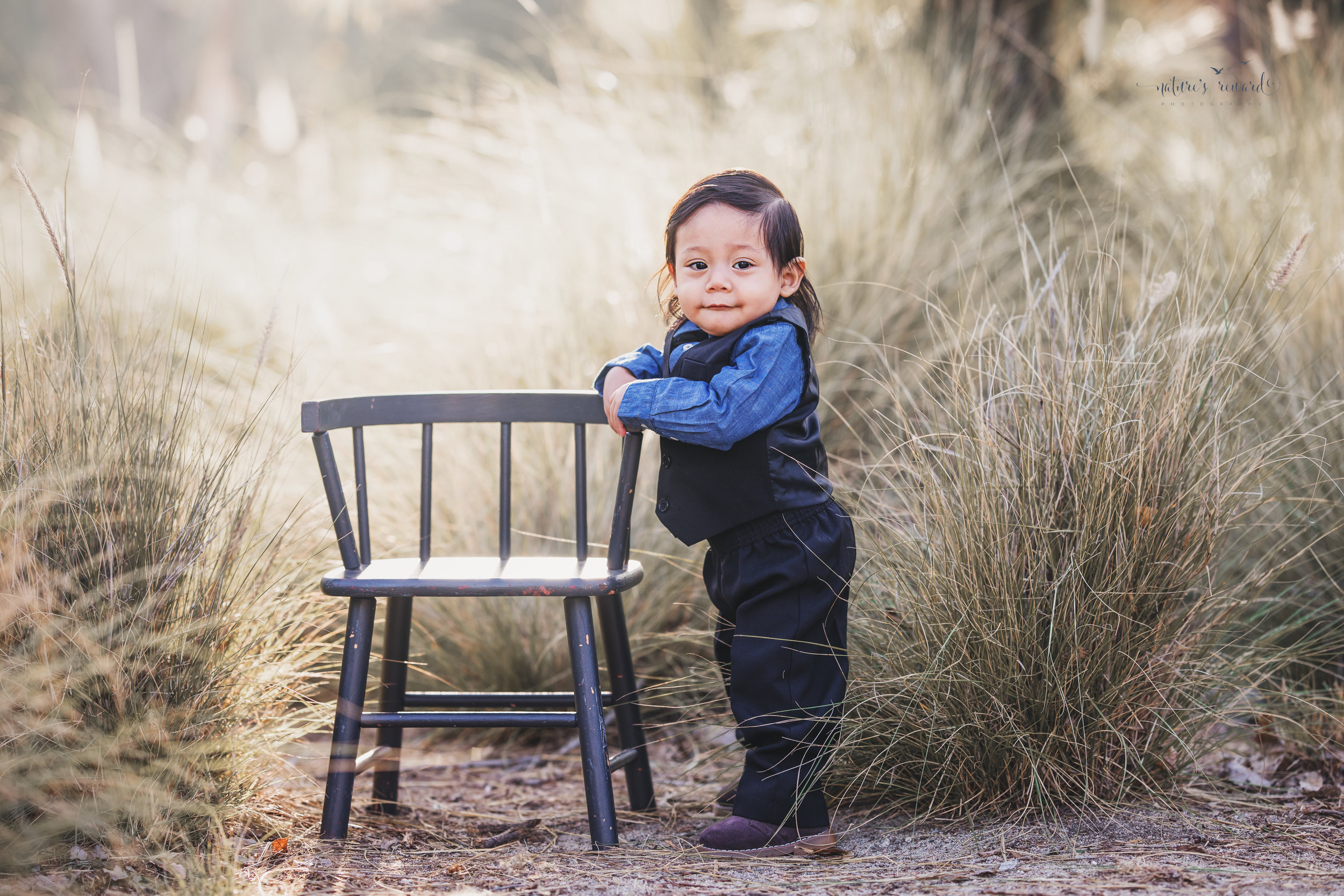 One year old infant portrait by Nature's Reward Photography