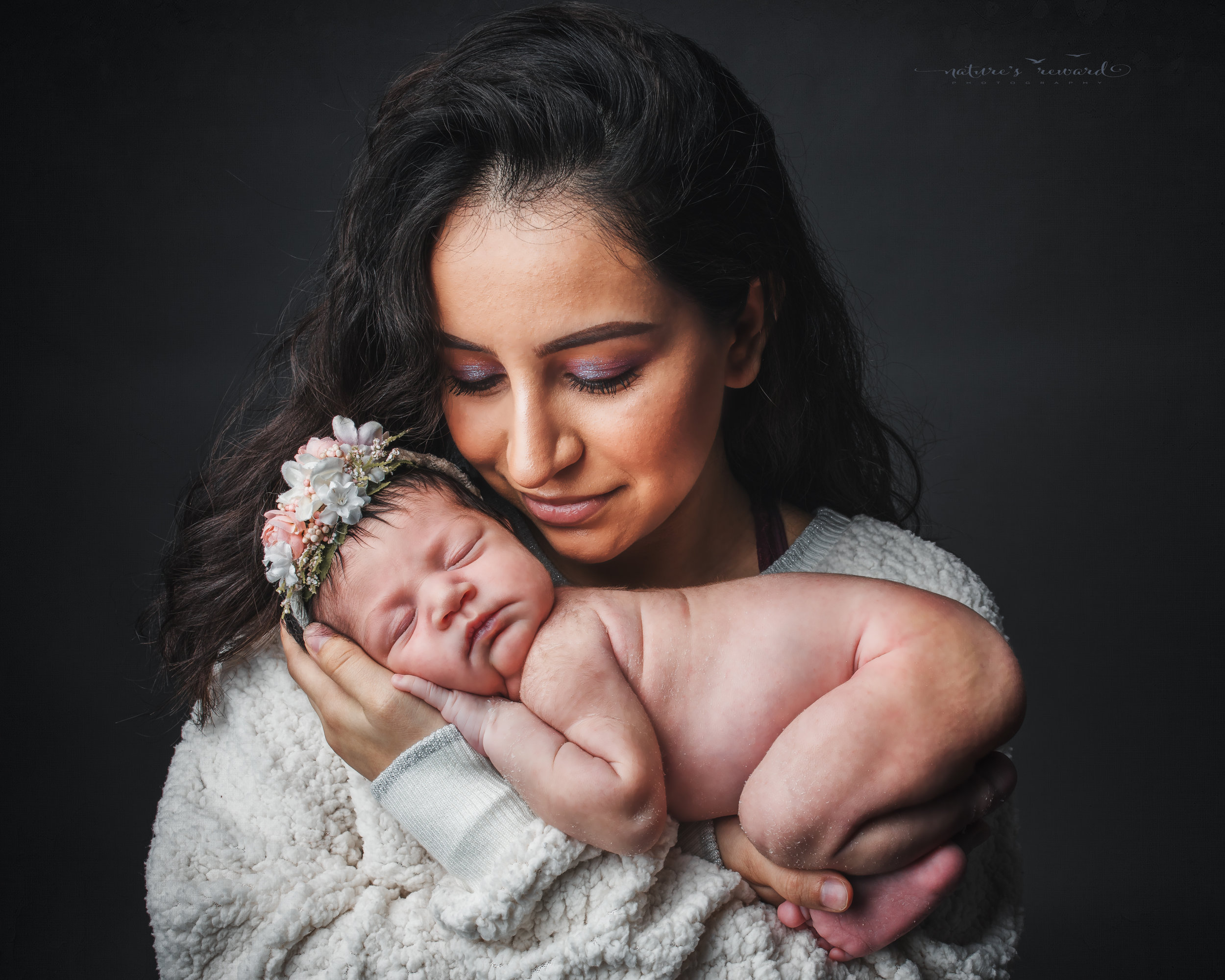 Mother and daughter portrait by nature's Reward Photography