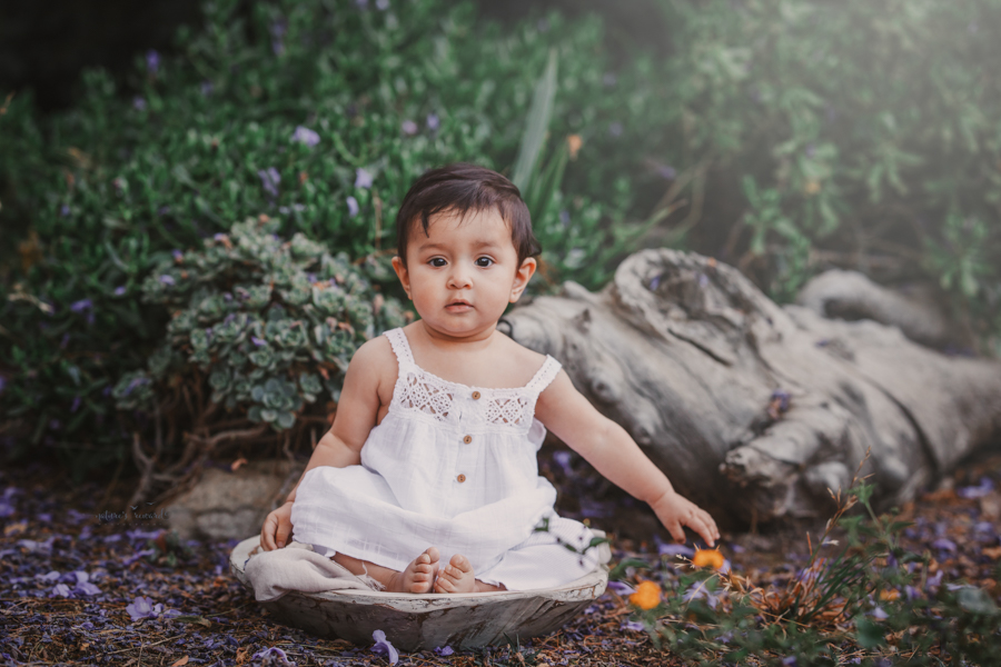 Baby Girl Portrait during a family session by Nature's Reward Photography