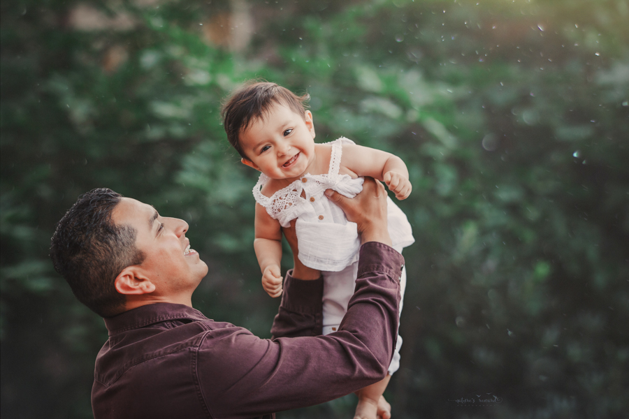 Dad and daughter portrait taken during a family session by Nature's Reward Photography